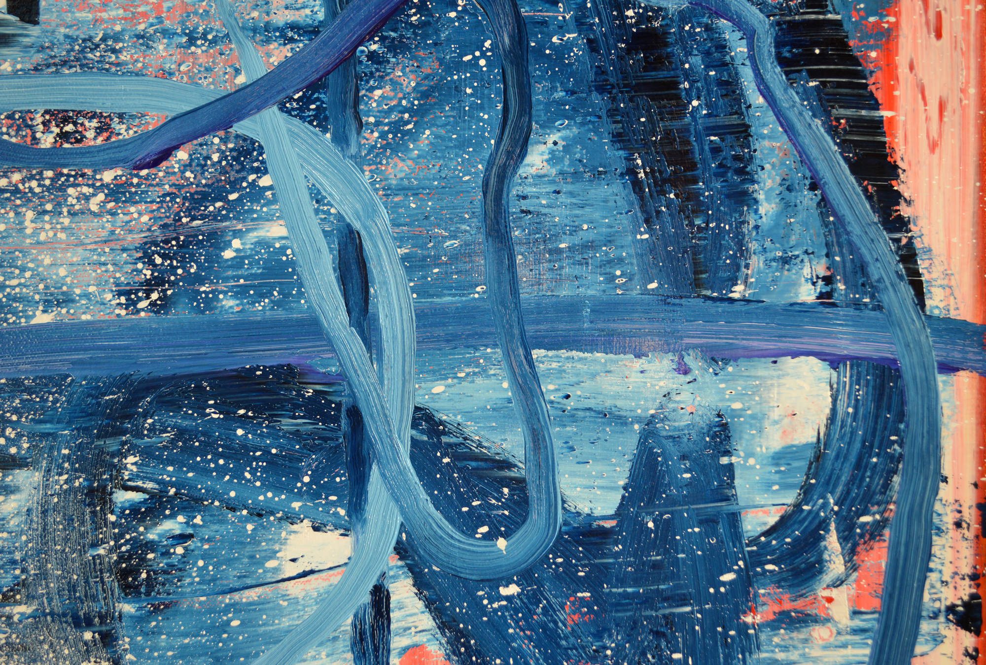 Robert West. Borderline Series. Abstract Painting No.75. Oil on Canvas. 200 x 200 cm. 2013-2014 -  Close Up 15.jpg