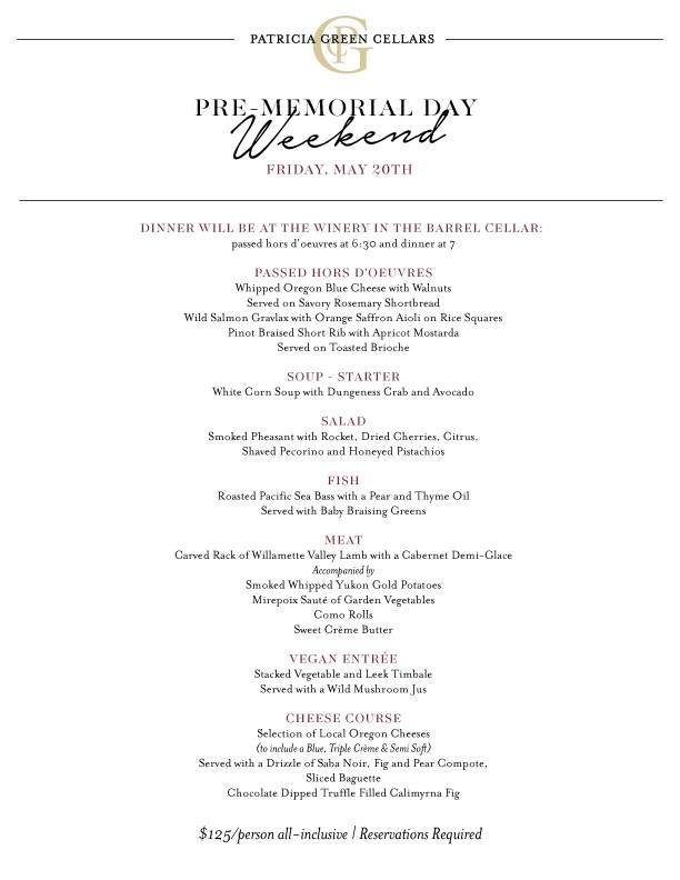 Please call the winery for reservations. (503) 554-0821