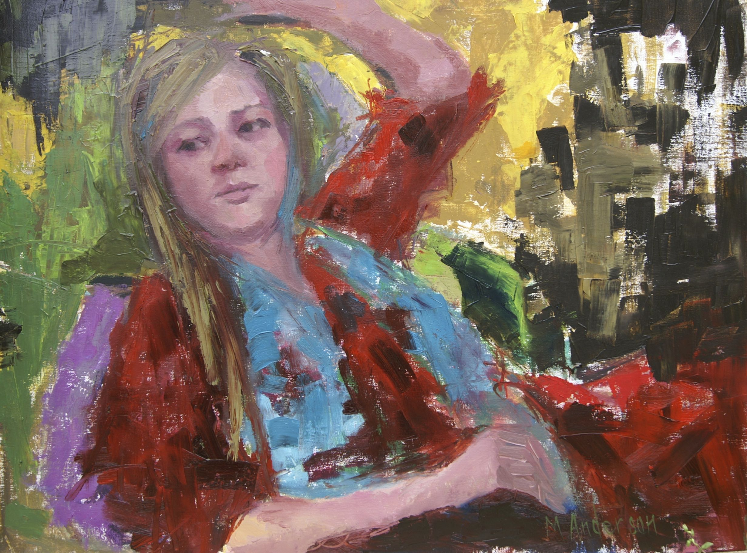 Girl in Red (14x18 Canvas) - Sold