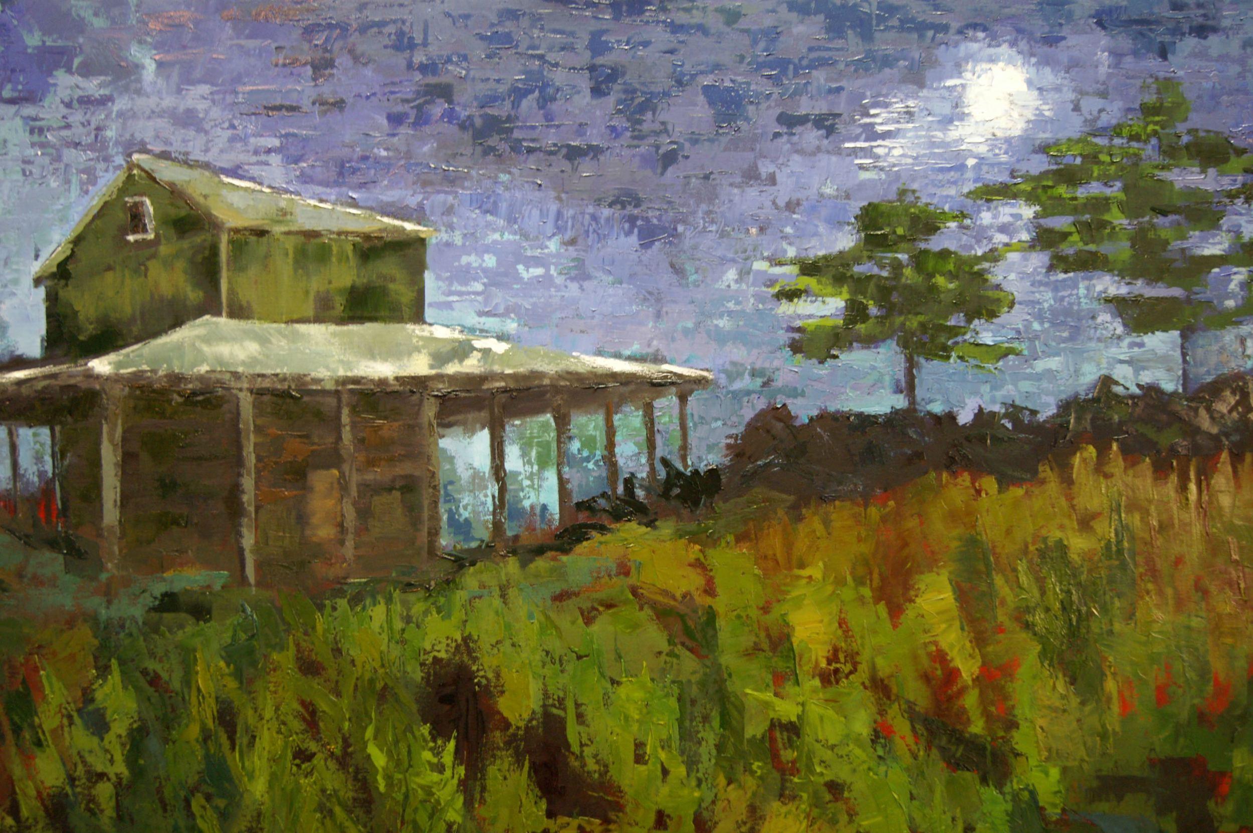 PeeDee Moon (48x36 Canvas) - Available