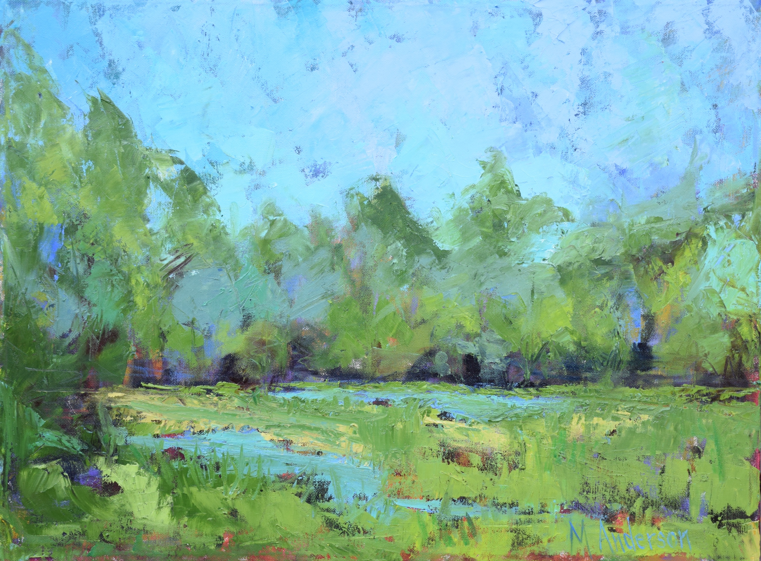Blue Sky Over Litchfield (18x24 Canvas) - Sold