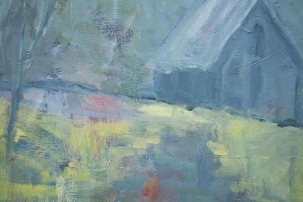 Morrow's Barn in Fog (16x20 Canvas) - Available