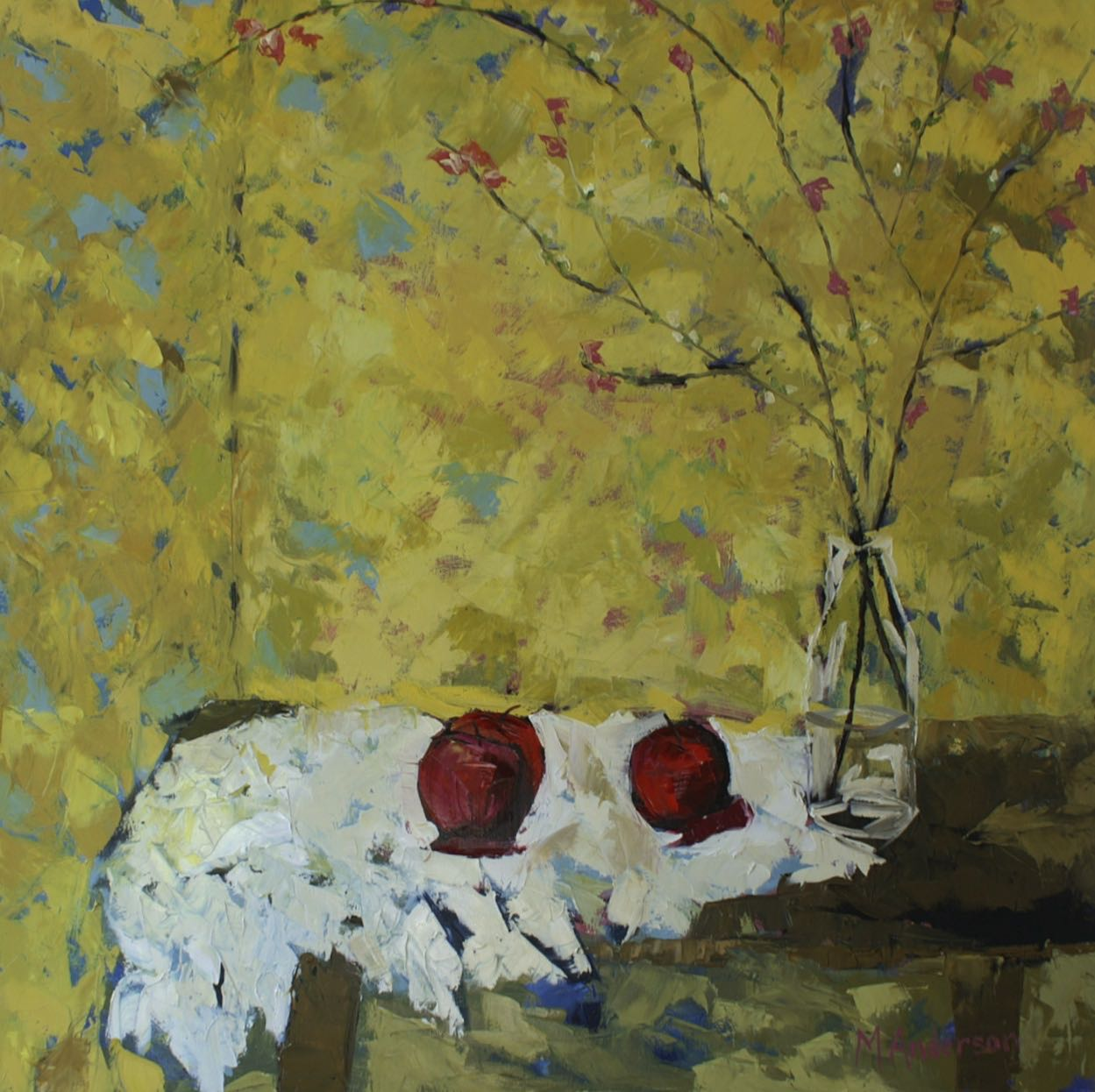 Forced Quince (40x40x1.25 Canvas) - Sold