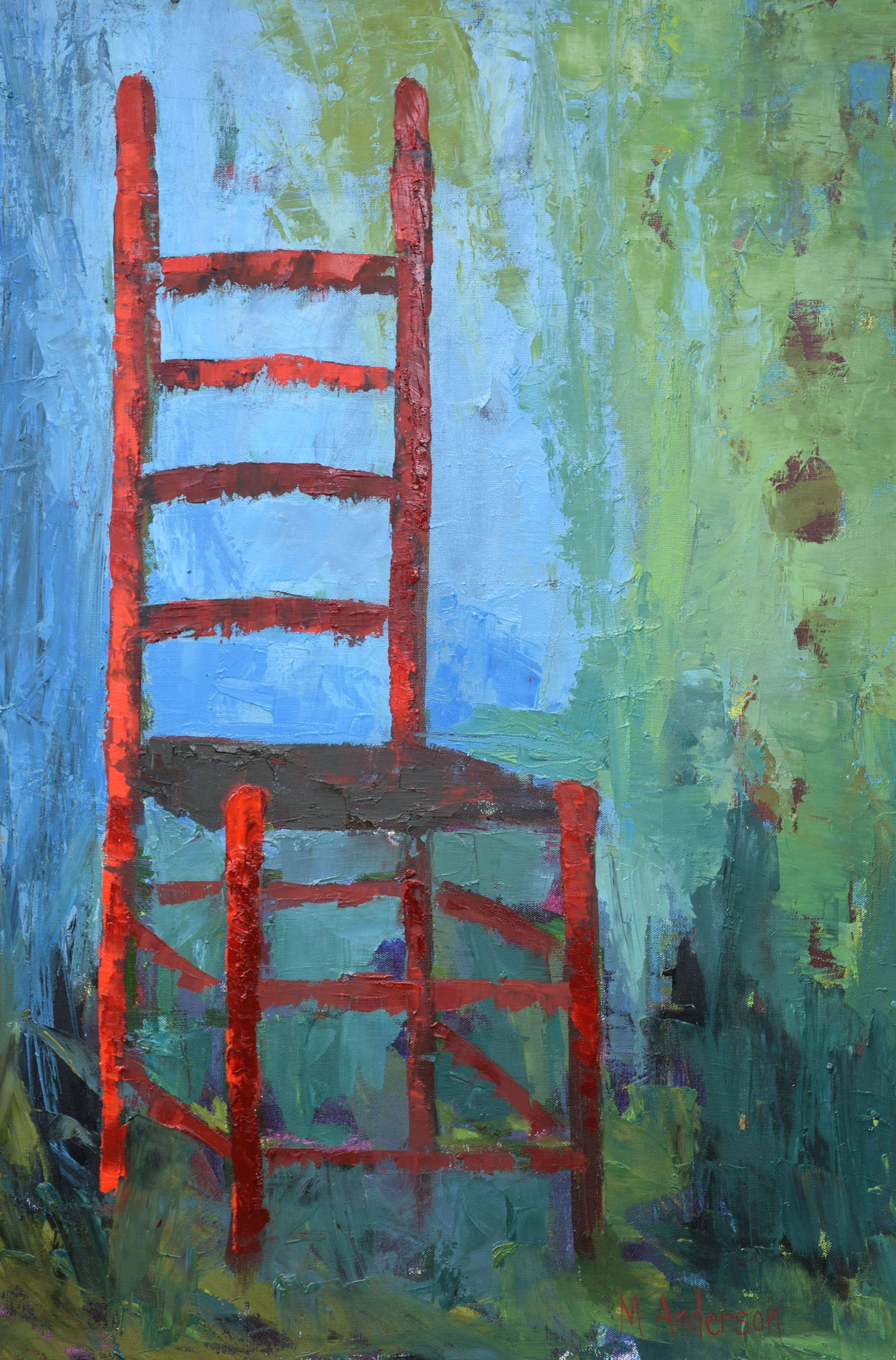 The Red Ladderback (36x48 Canvas) - Sold