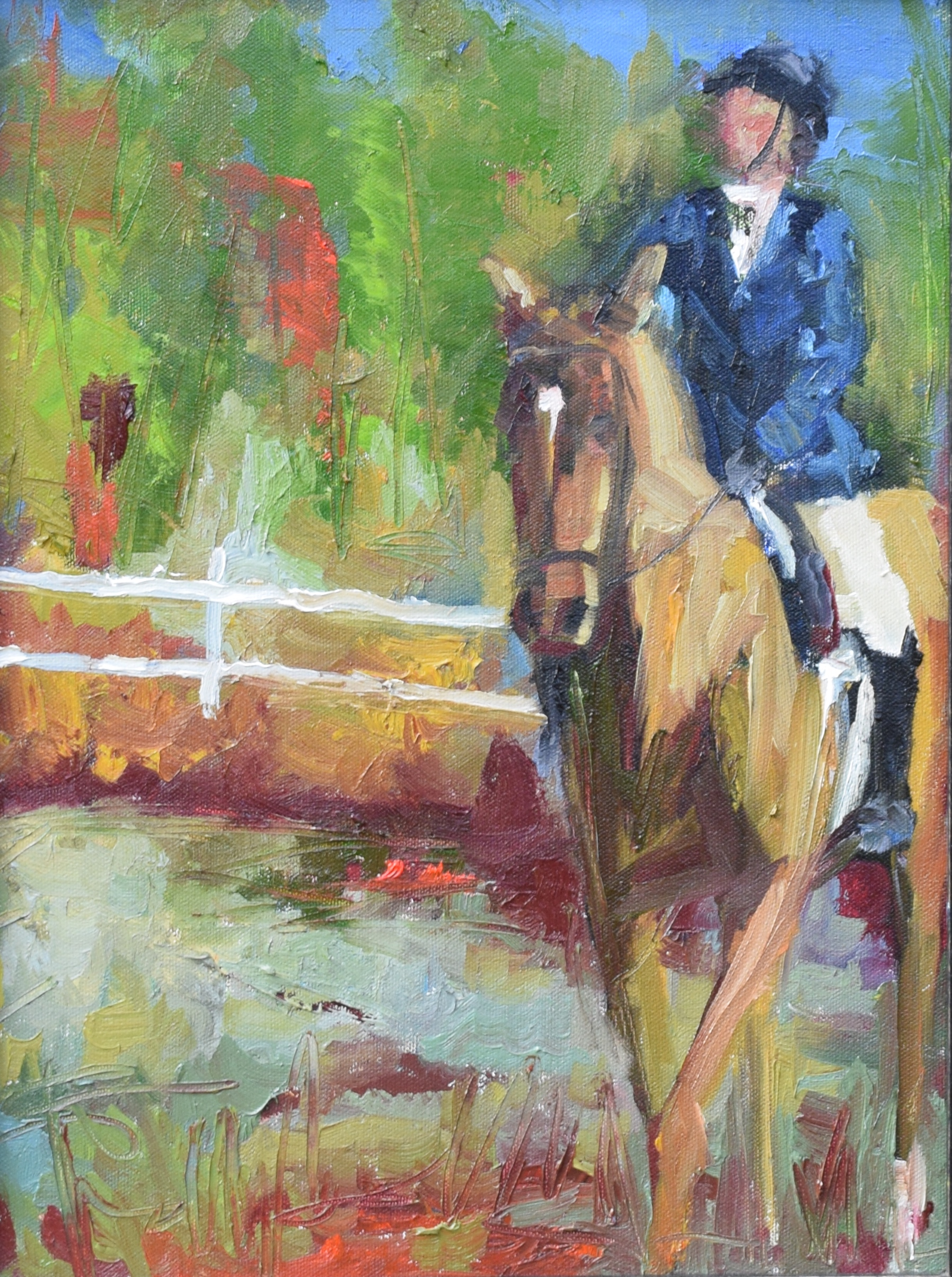 Dressage (16x12 Canvas) - Sold