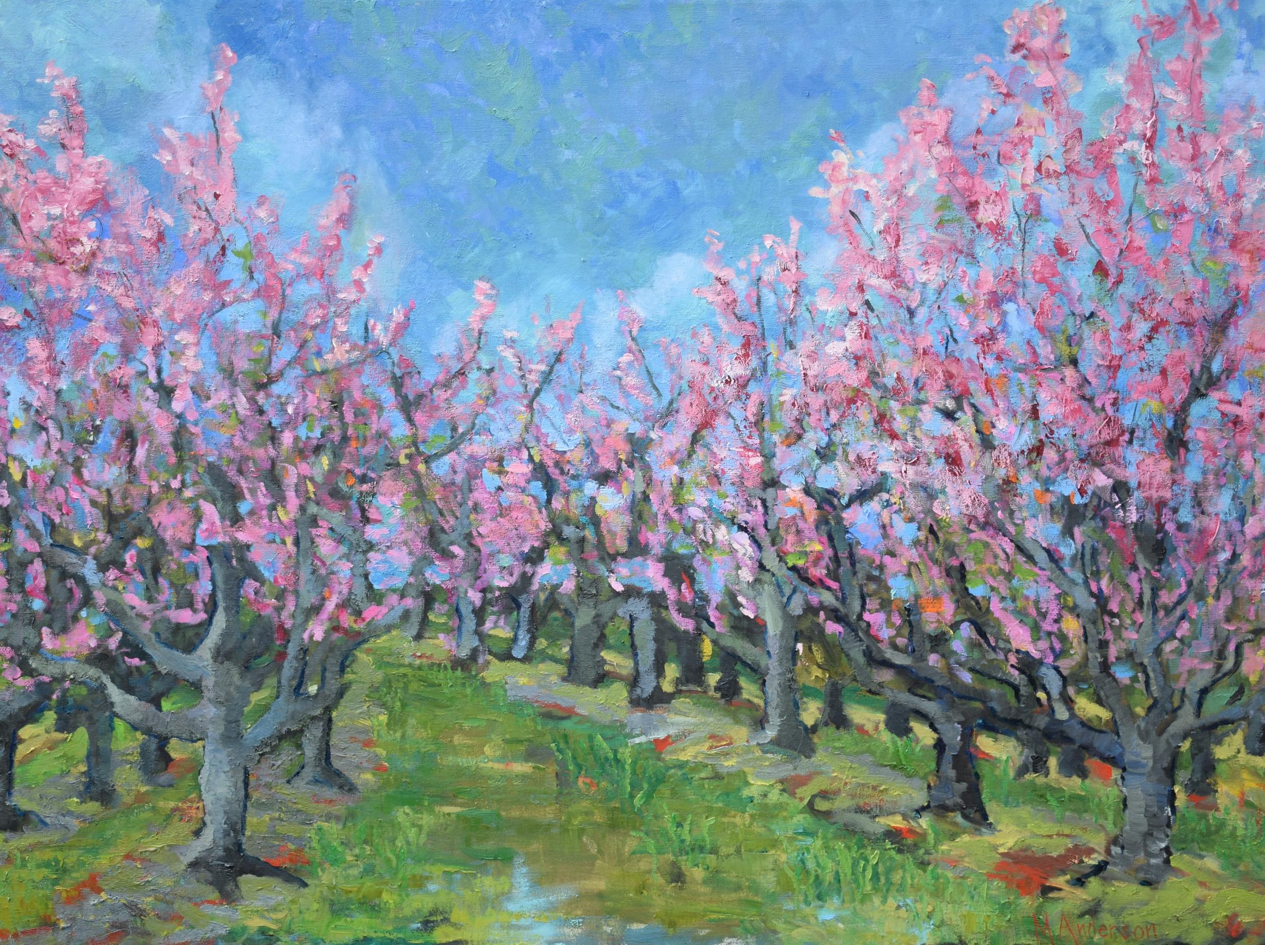 Peach Trees (48x36 Canvas) - Available