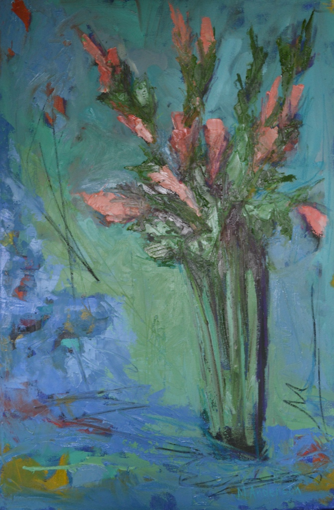 Pink Flowers (20x30 Canvas) - Sold
