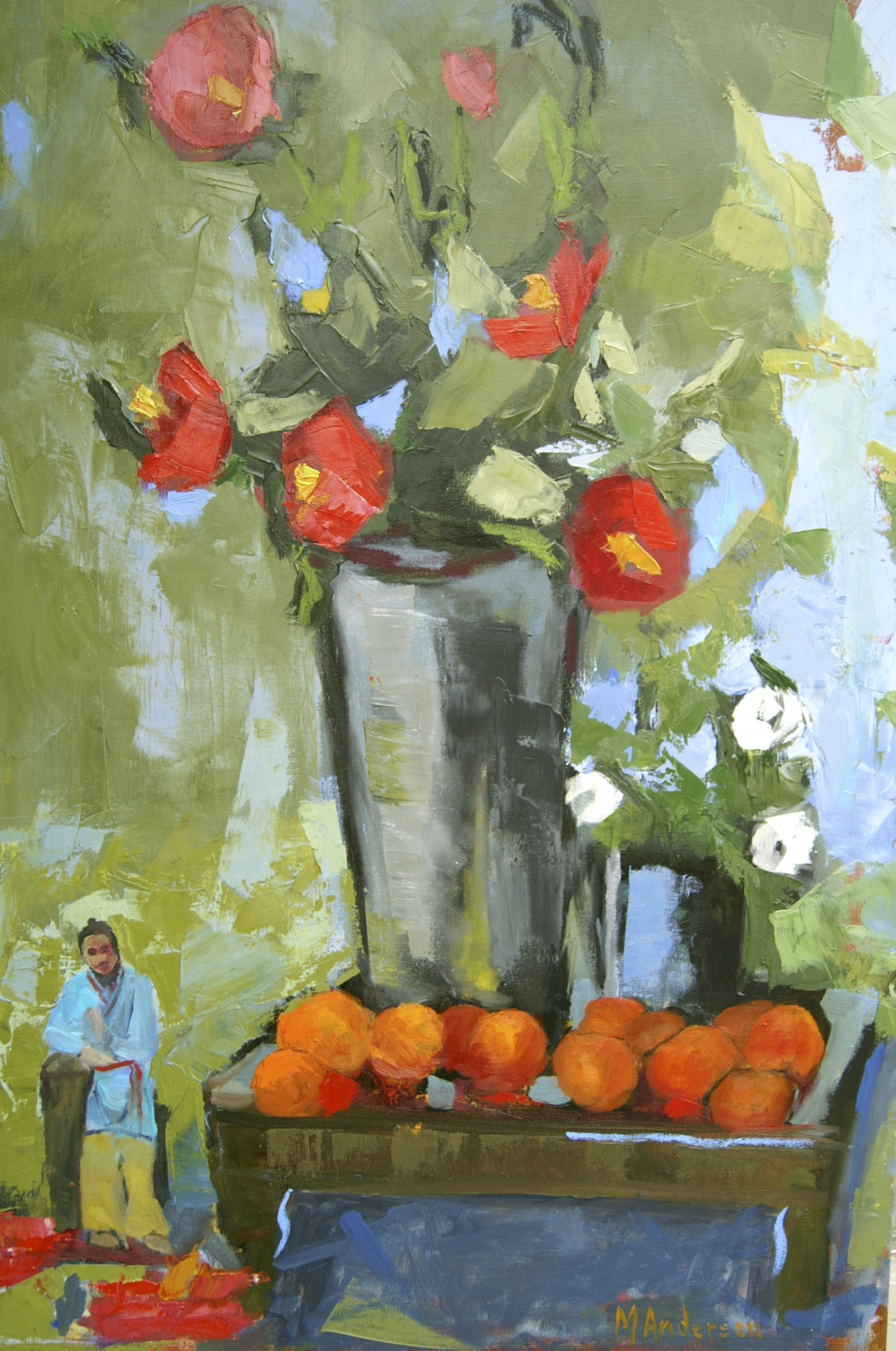 Clementines and Camellias (36x24 Canvas) - Available