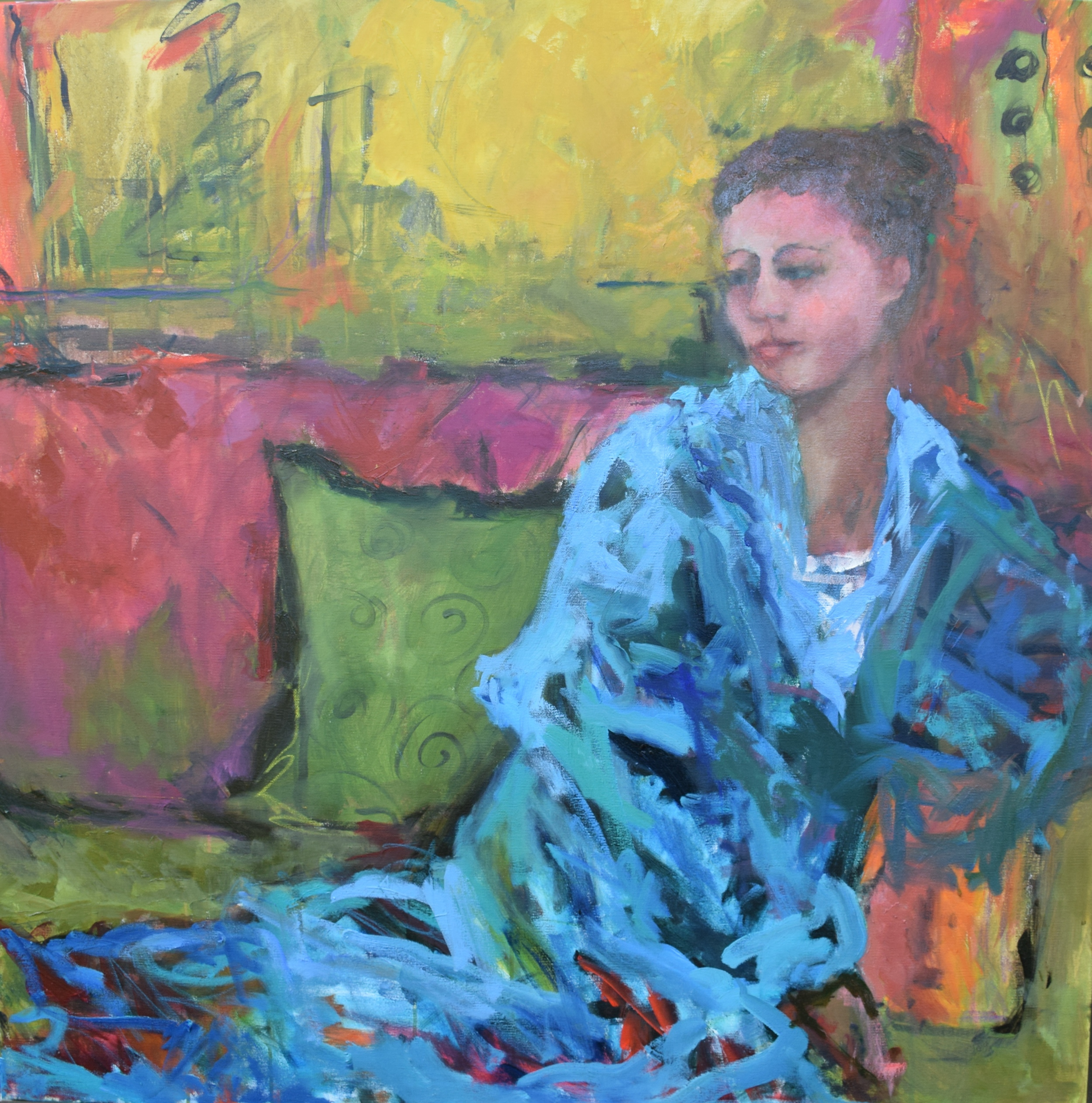 The Blue Robe (36x36 Canvas) - Sold