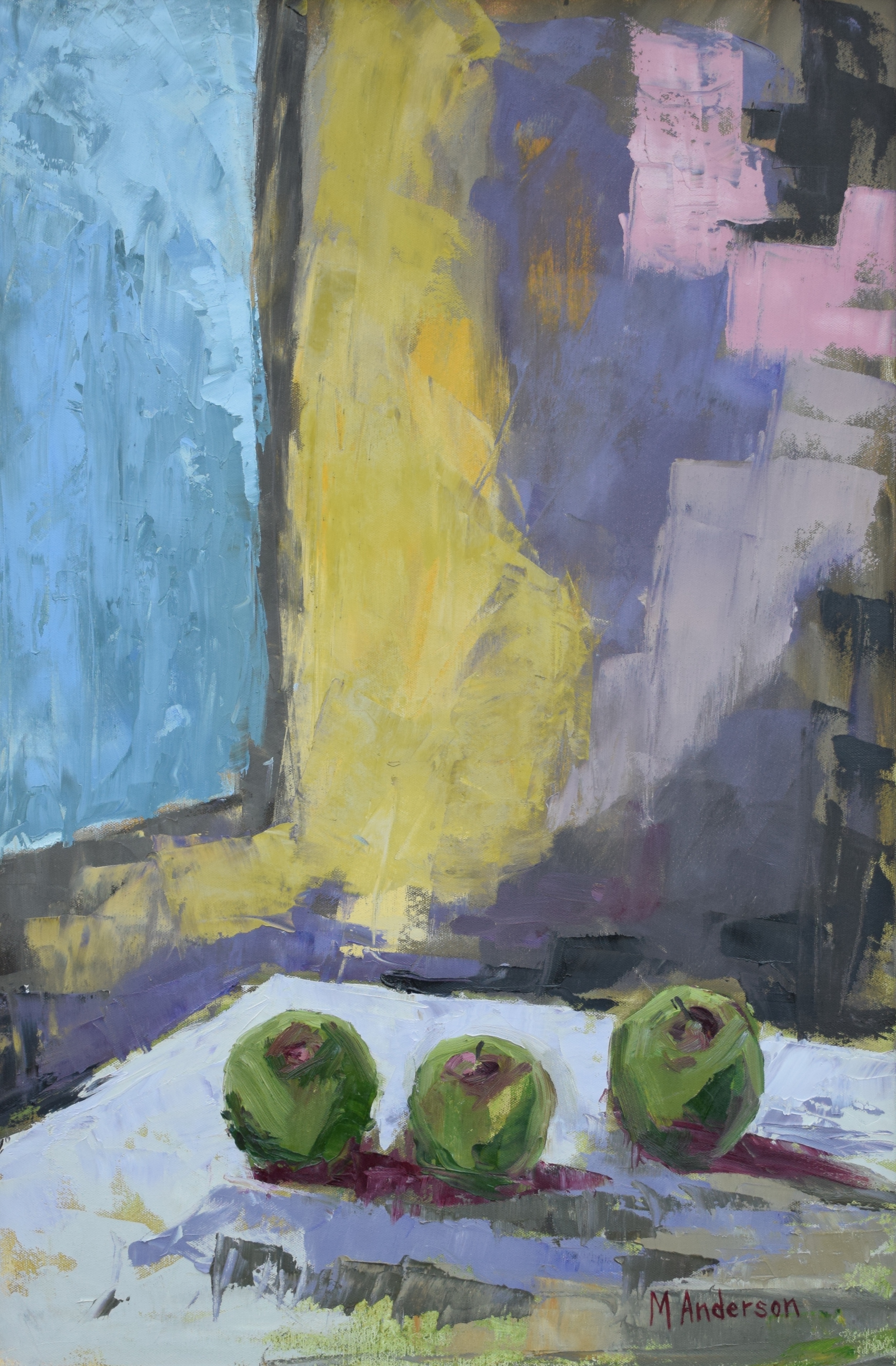 Green Apples (30x20 Canvas) - Sold