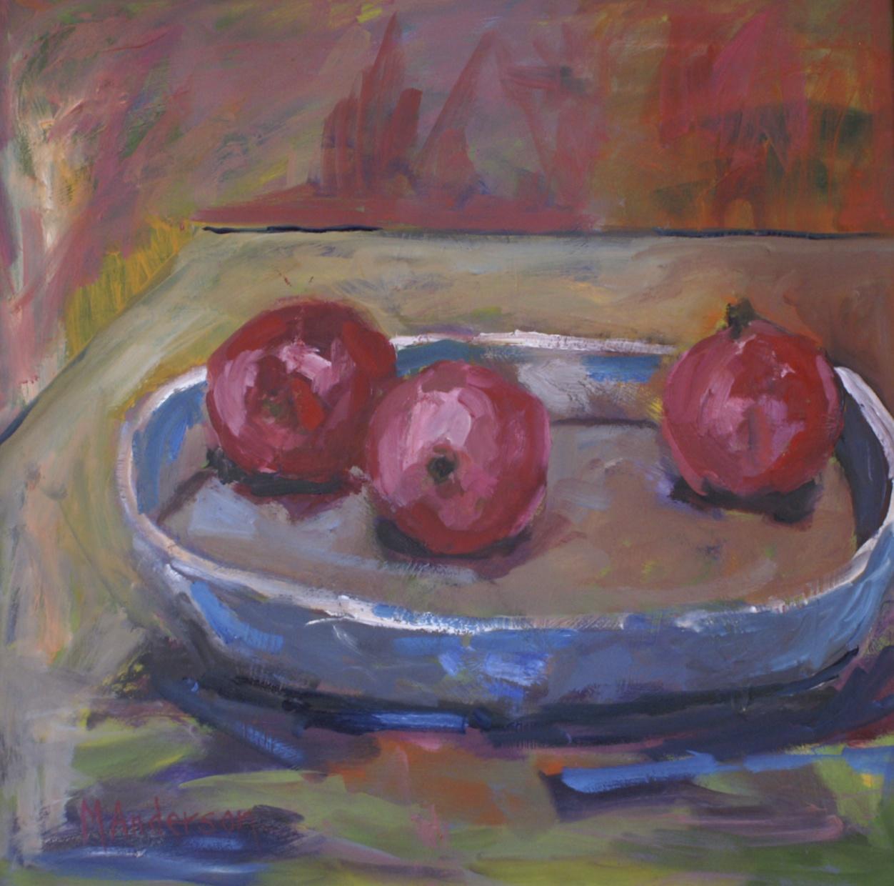 Pomegranate Trio (24x24 Canvas) - Sold