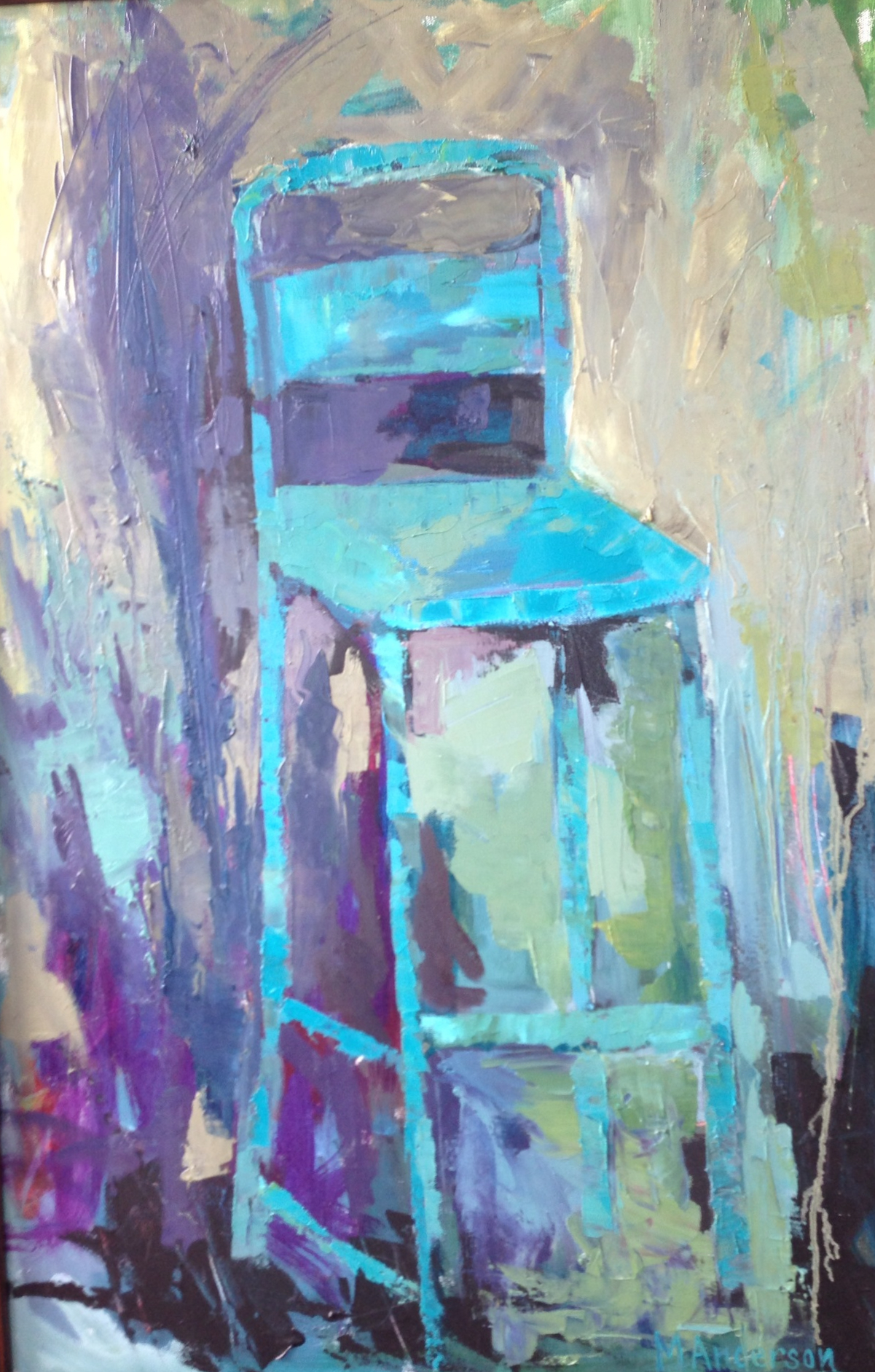French Blue (36x24 Canvas) - Sold