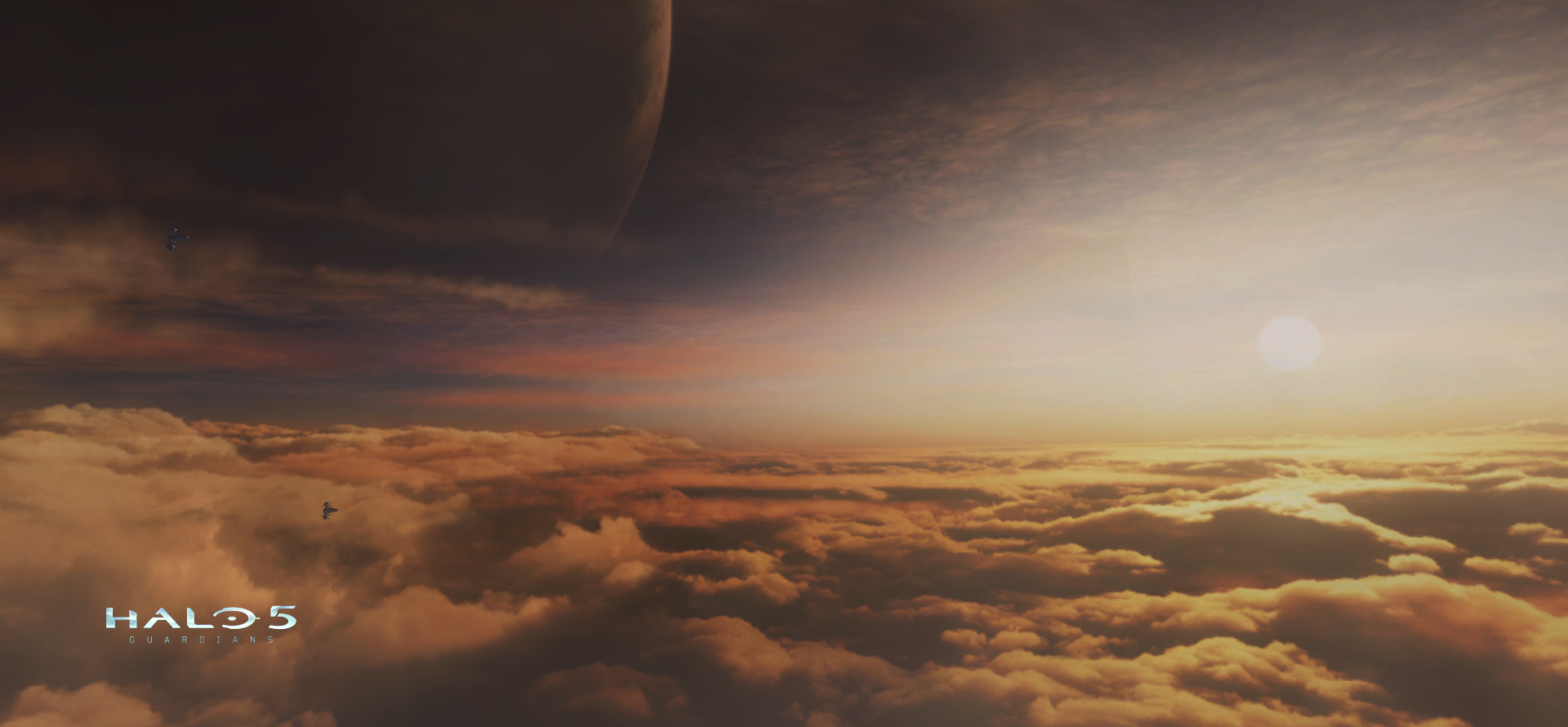 Matte Painting skybox texture, card geometry for clouds and lighting.