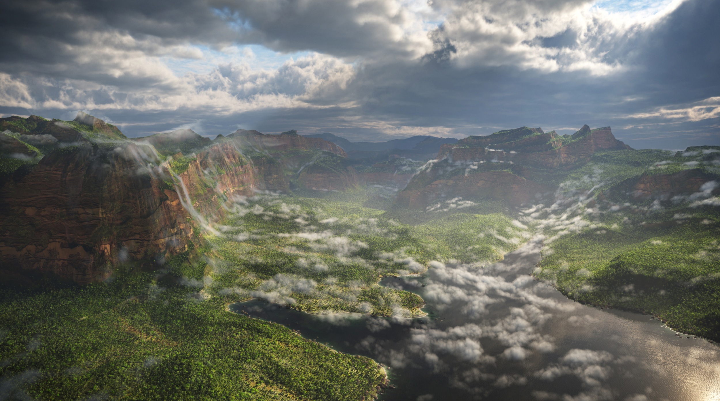 3D modeling vista assets, skybox matte painting, lighting vista elements.