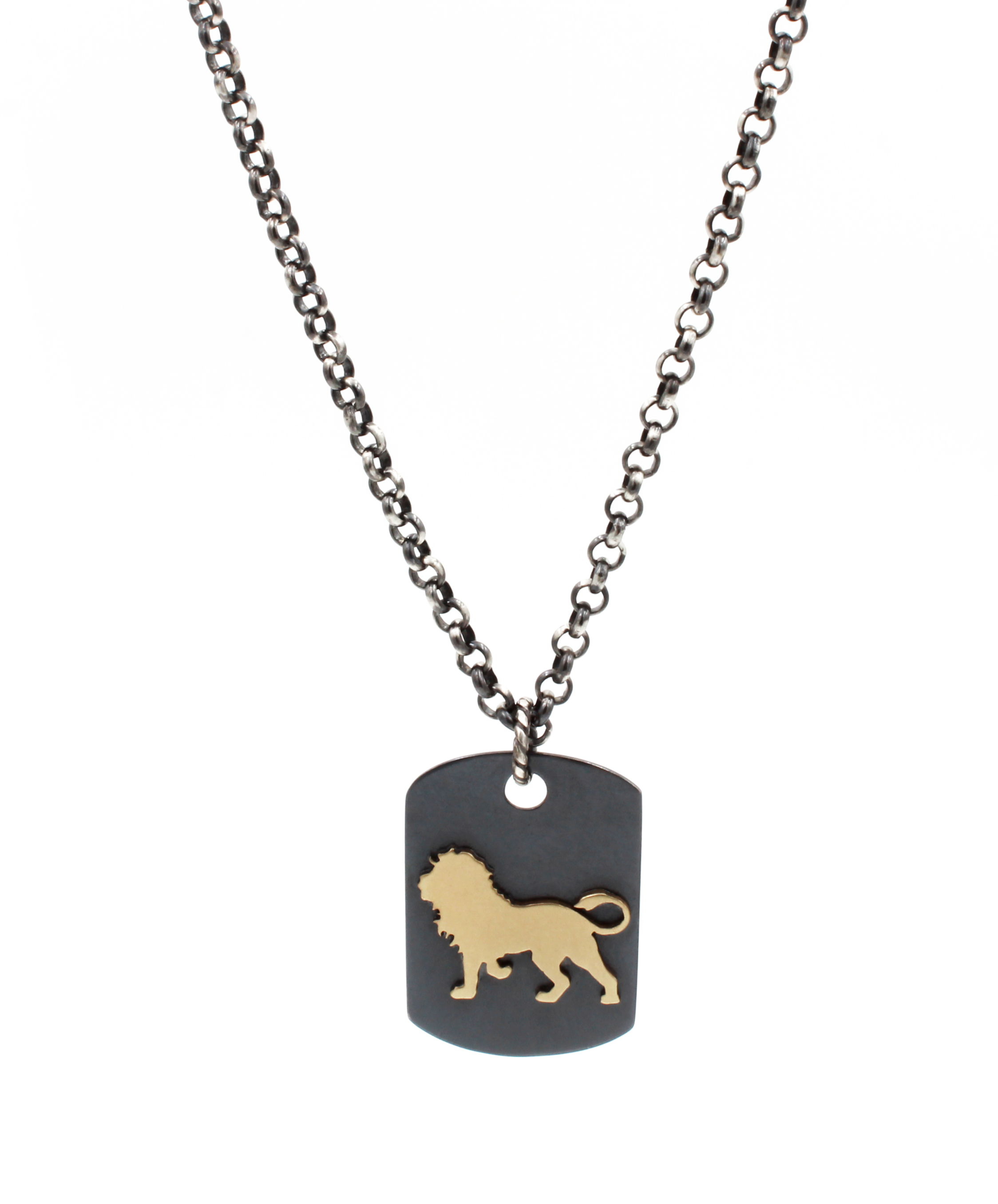 Lion Dog Tag Necklace.jpg