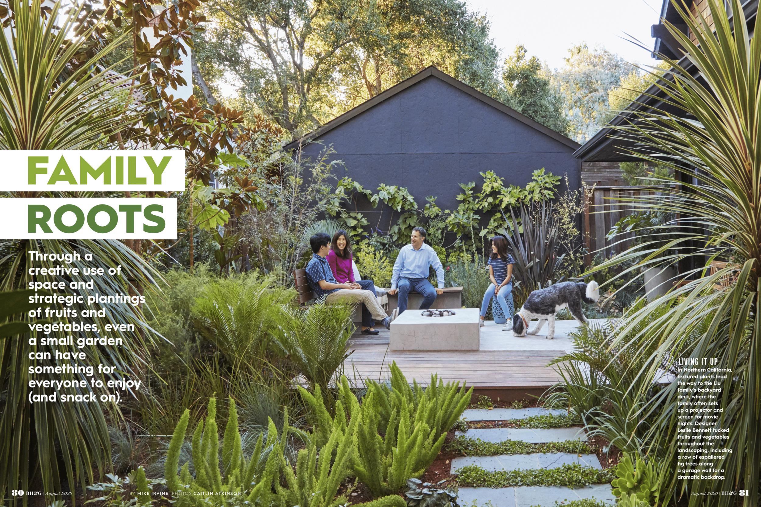 Family Root Better Homes Gardens Magazine August 2020 Pine House Edible Gardens