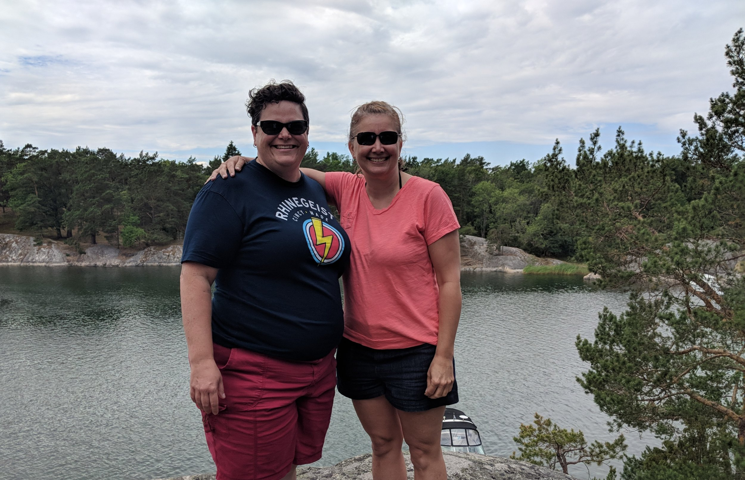 Debbie and I went on a boat tour of the archipelago in Sweden.