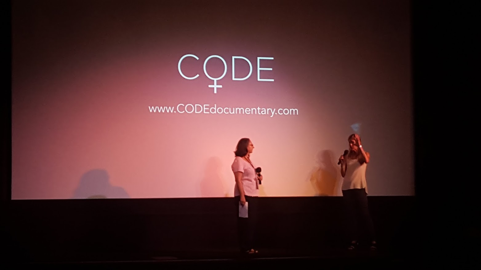 Director Robin Hauser Reynolds leads discussion with Mill Valley Film Festival's Education Coordinator of her new documentary,  CODE:Debugging the Gender Gap in Technology  at a special screening generously arranged to build community around computer science and raise visibility for  TLCoding Lab , Physic's Academy at San Rafael High School and the Advanced Digital Media Class at Miller Creek Middle School in October 2015.