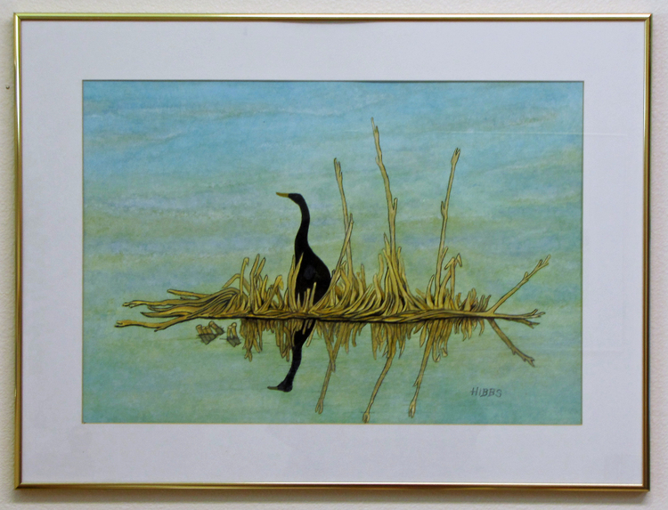 "Interrupted Solitude #3, $700 Lilith Maxine Hibbs 1999 watercolor on paper13"" x 19"""