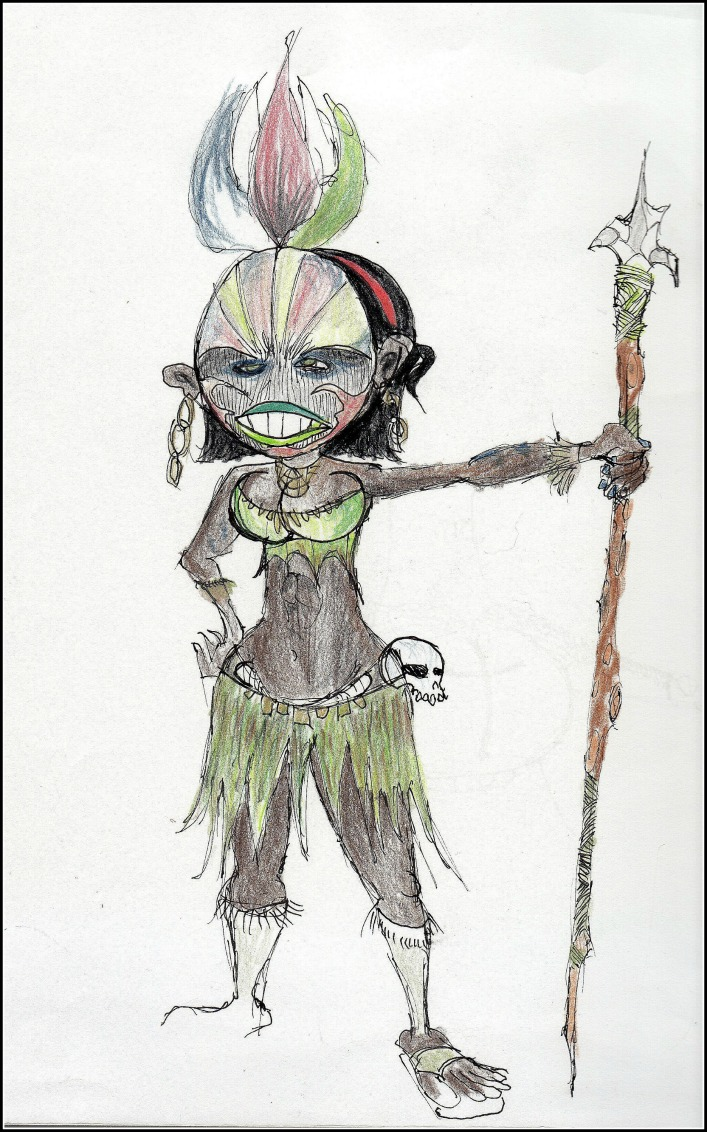 Witch Doctor          Spencer Rideout Pen and colored pencils photo print $20