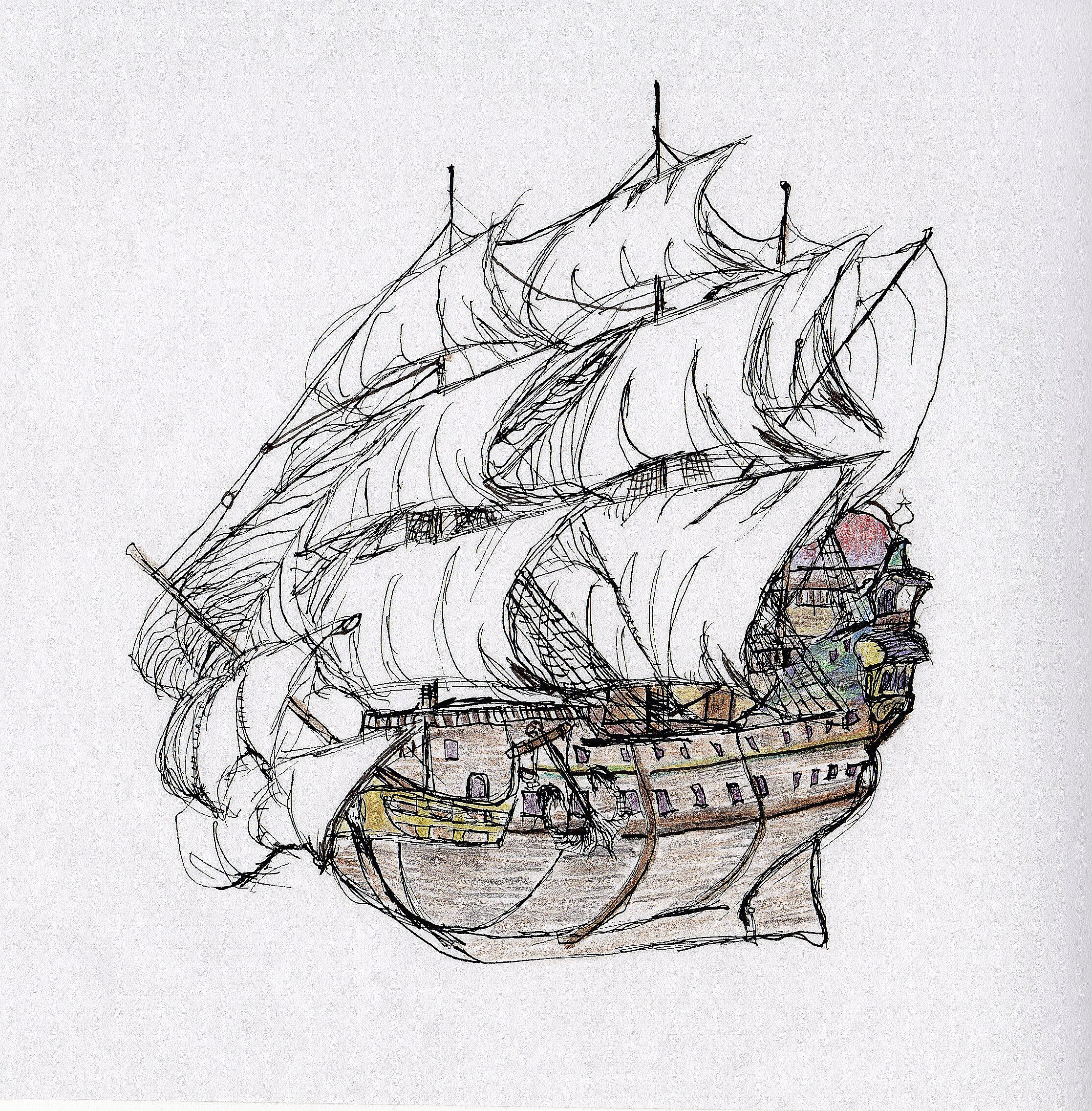 Ship One                     Spencer Rideout Pen and colored pencils photoprint $25