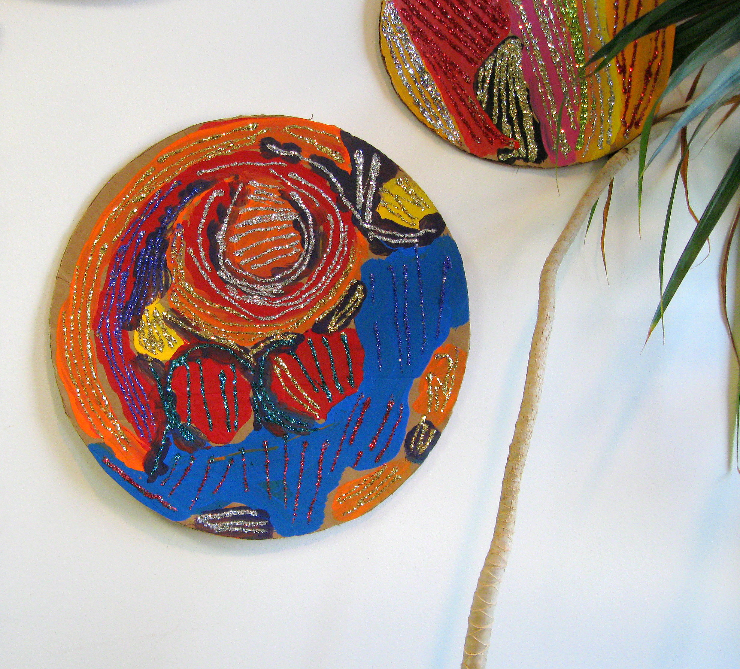 Circle #1  $25.00 Steve Thomas Painted cardboard disk