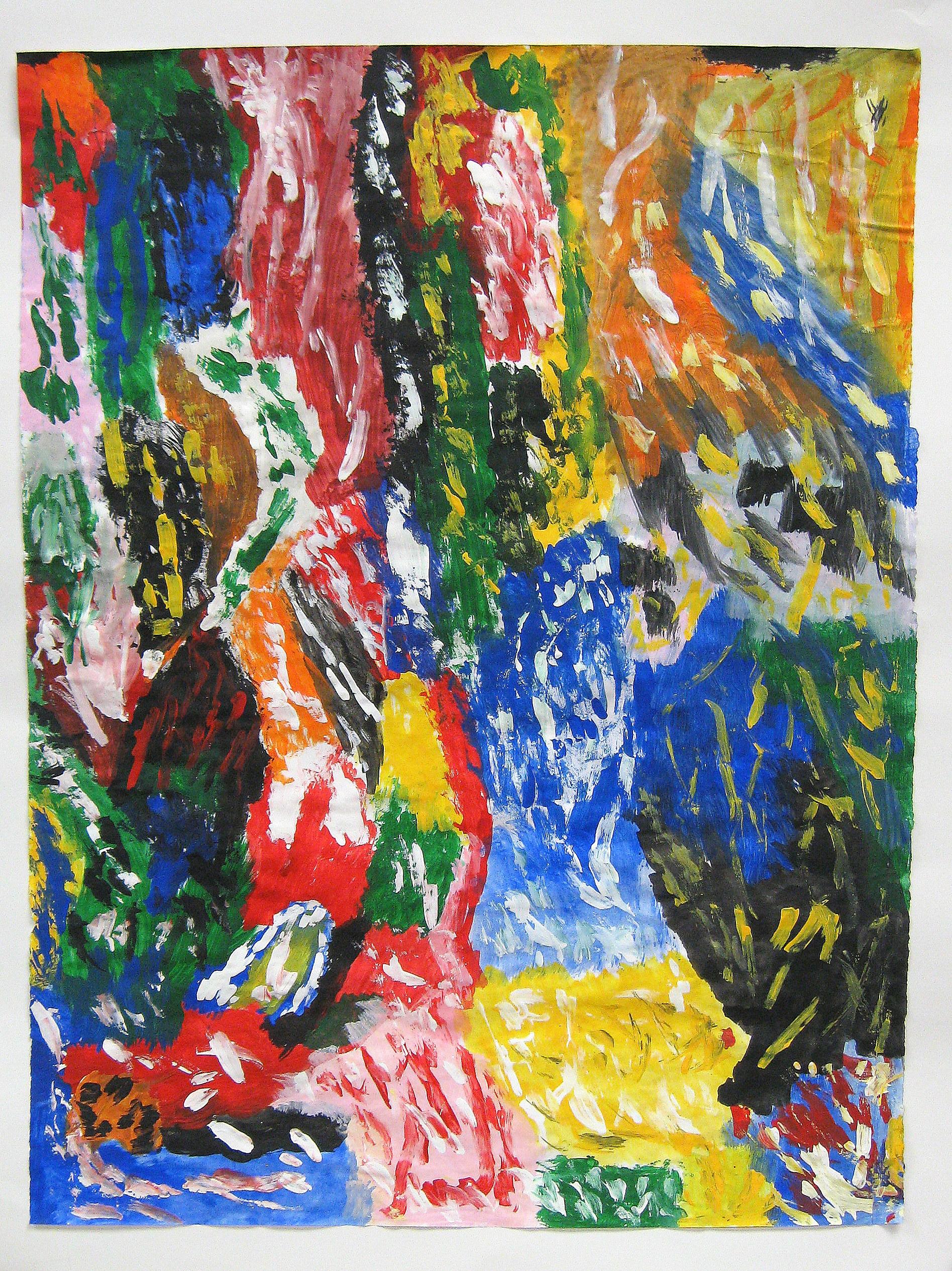 Abstract Six $30/print, $150/original Acrylic on Paper 16 x 22