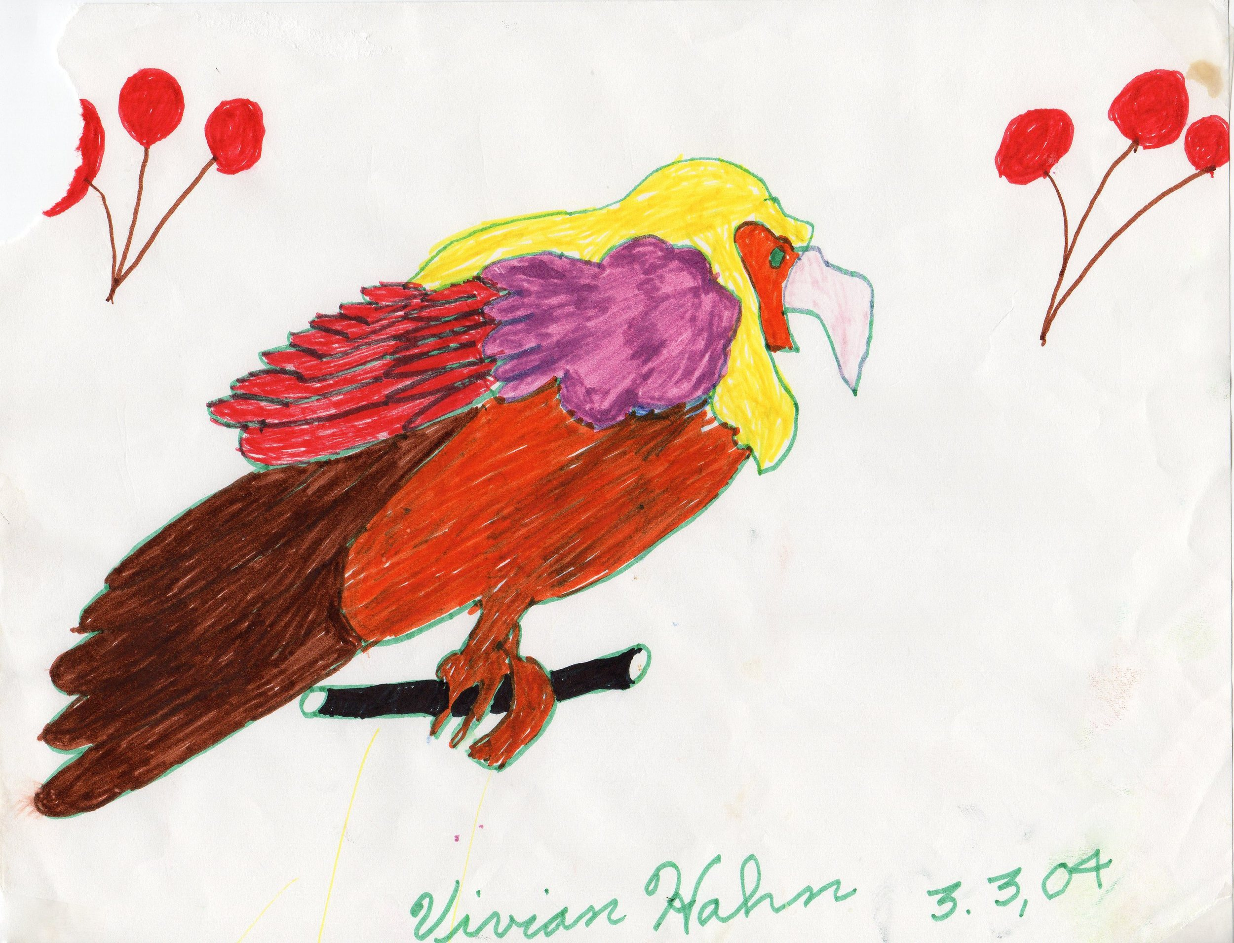 Eagle  Vivian Hahn 3/3/2004 Color Pencil on Paper prints $20/originals $50