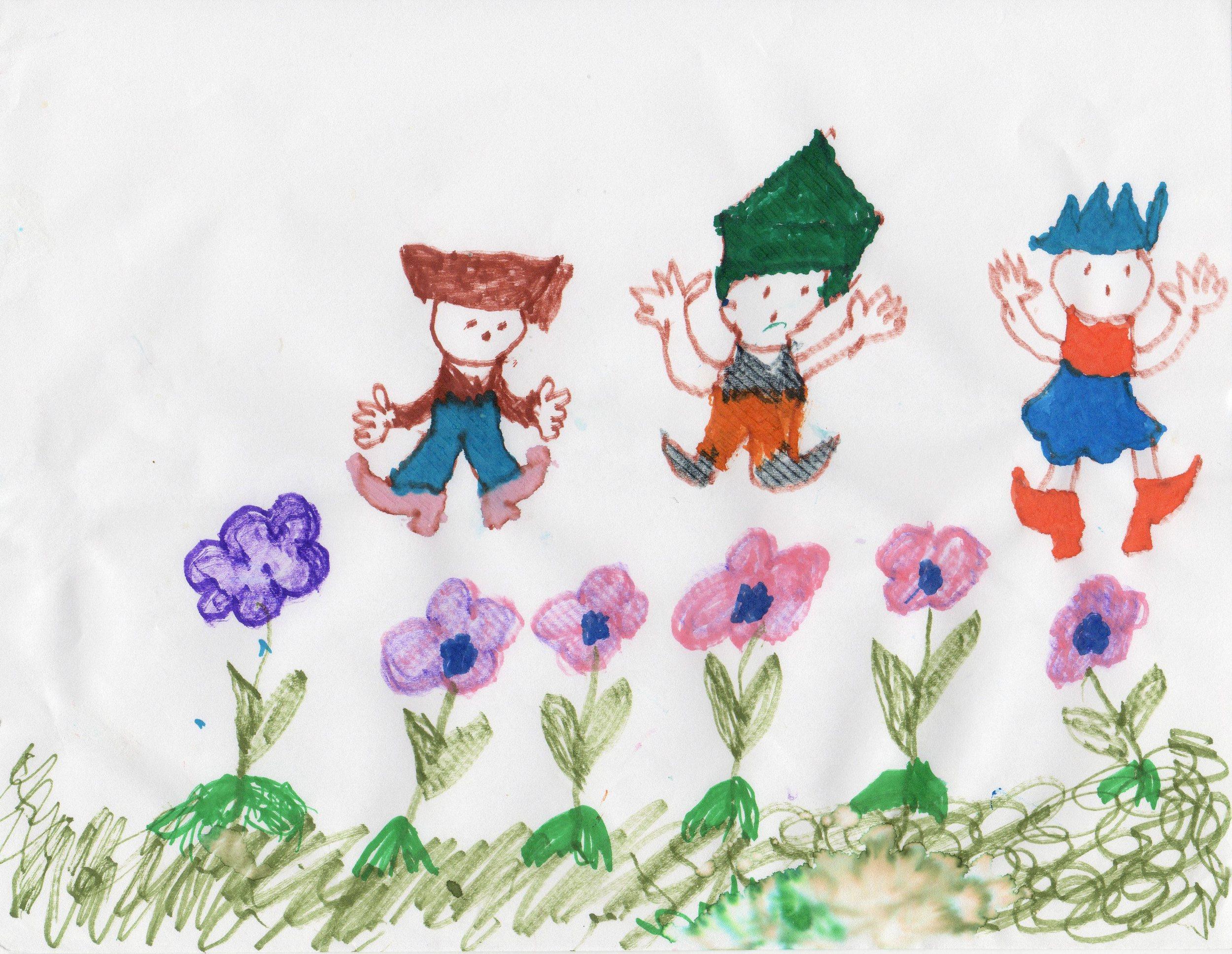 In the Garden  Vivian Hahn (date created unknown) Marker on Paper  prints $20/originals $40