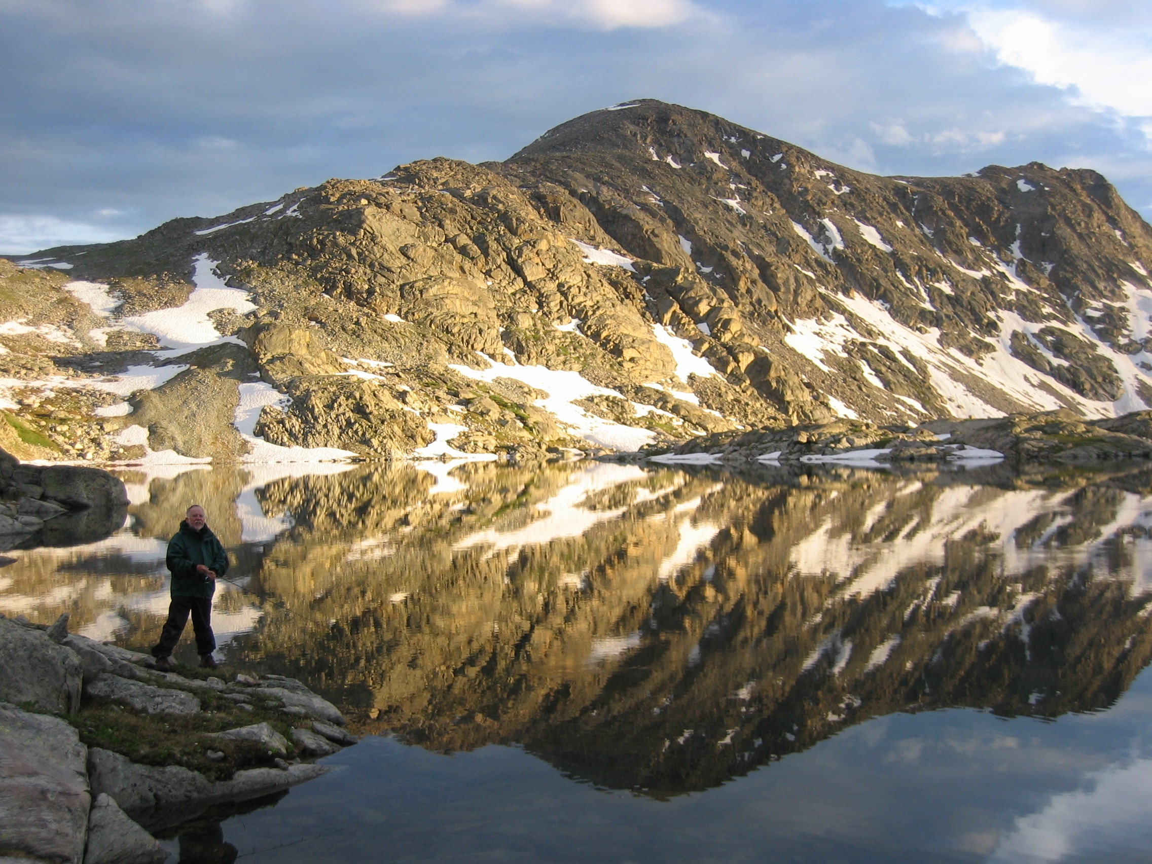 Dad Fishing at 12,000 Feet Nathan Fischer 2007 Photograph 8.5 x 11 or custom $75