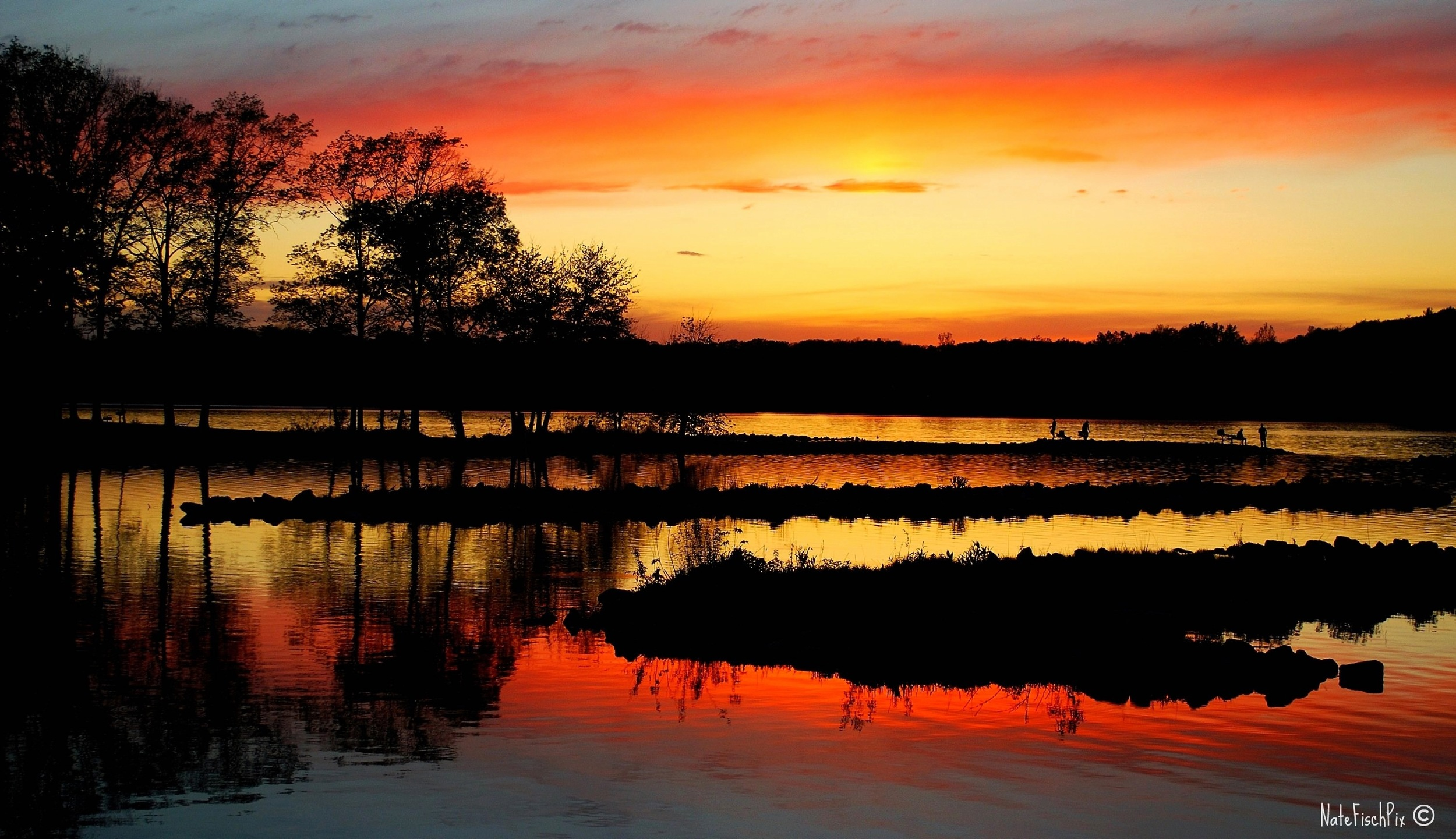 Sunset on Lake MacBride Nathan Fischer 2010 Photograph Custom $100