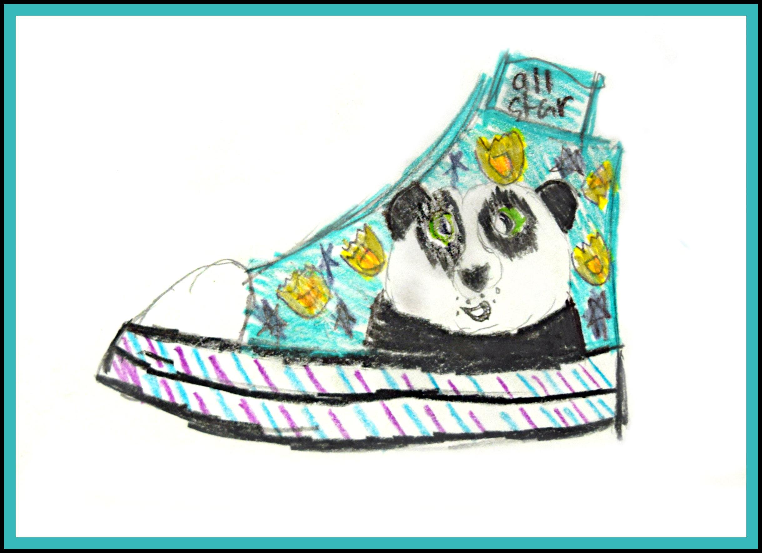 The All Star Panda  Shambria Loffer   Colored Pencil   Print on 8x10 $20