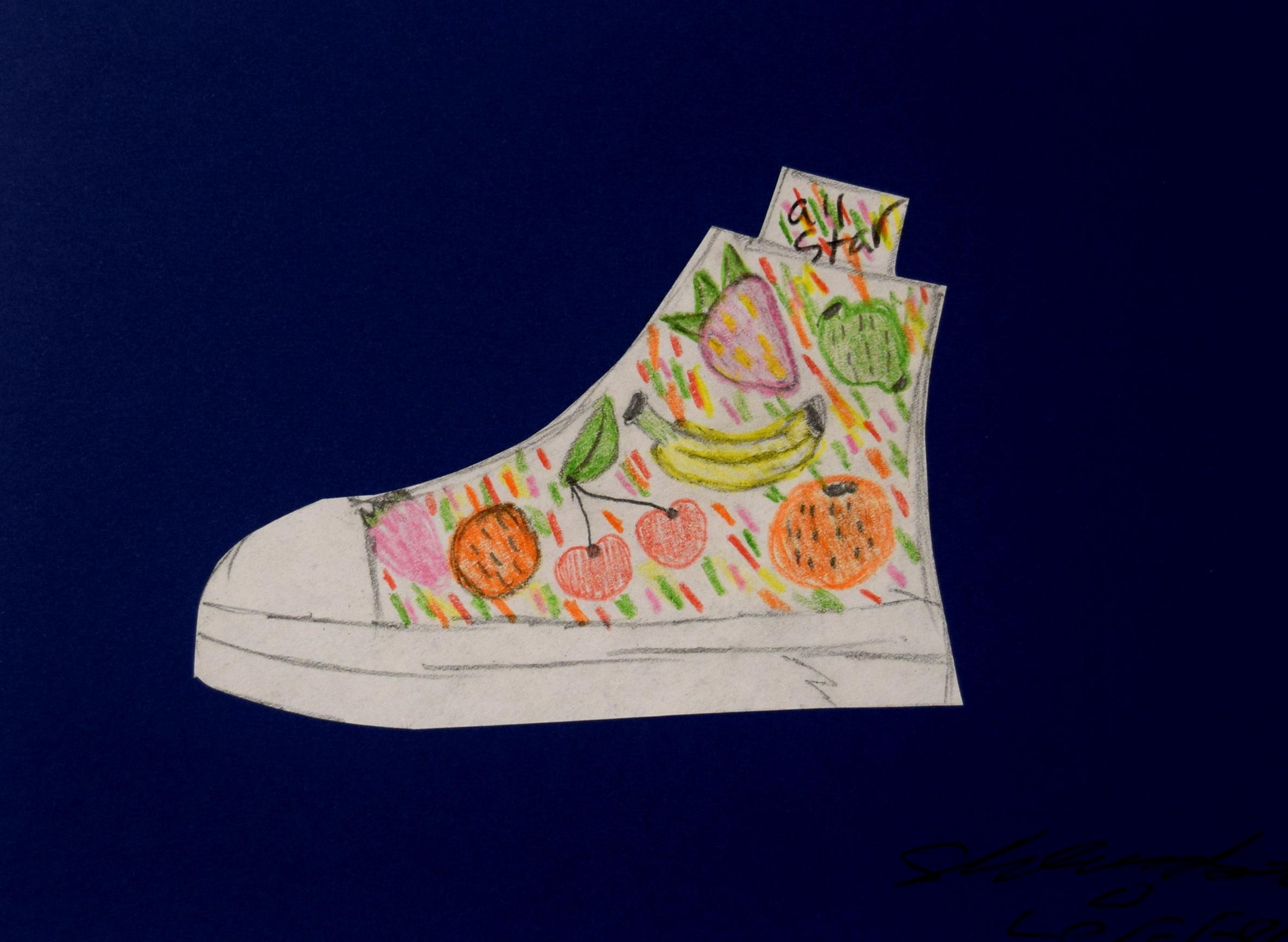 Fruit Shoe  Shambria Loffer   Colored Pencil   Print on 8x10 $20