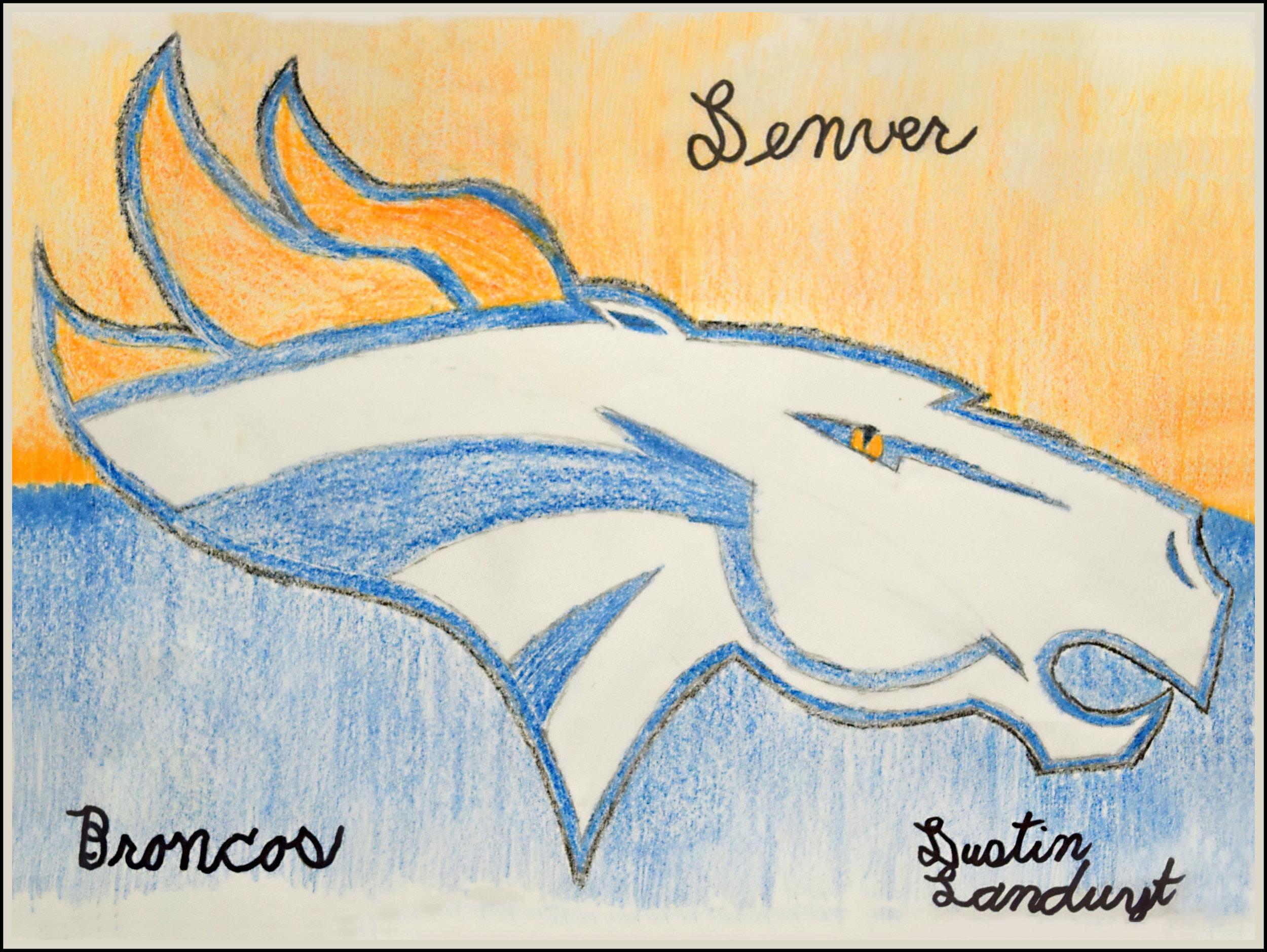 Dustin Landuyt   Denver Broncos 2016   Acrylic on canvas, 10x14 $35 or print $20