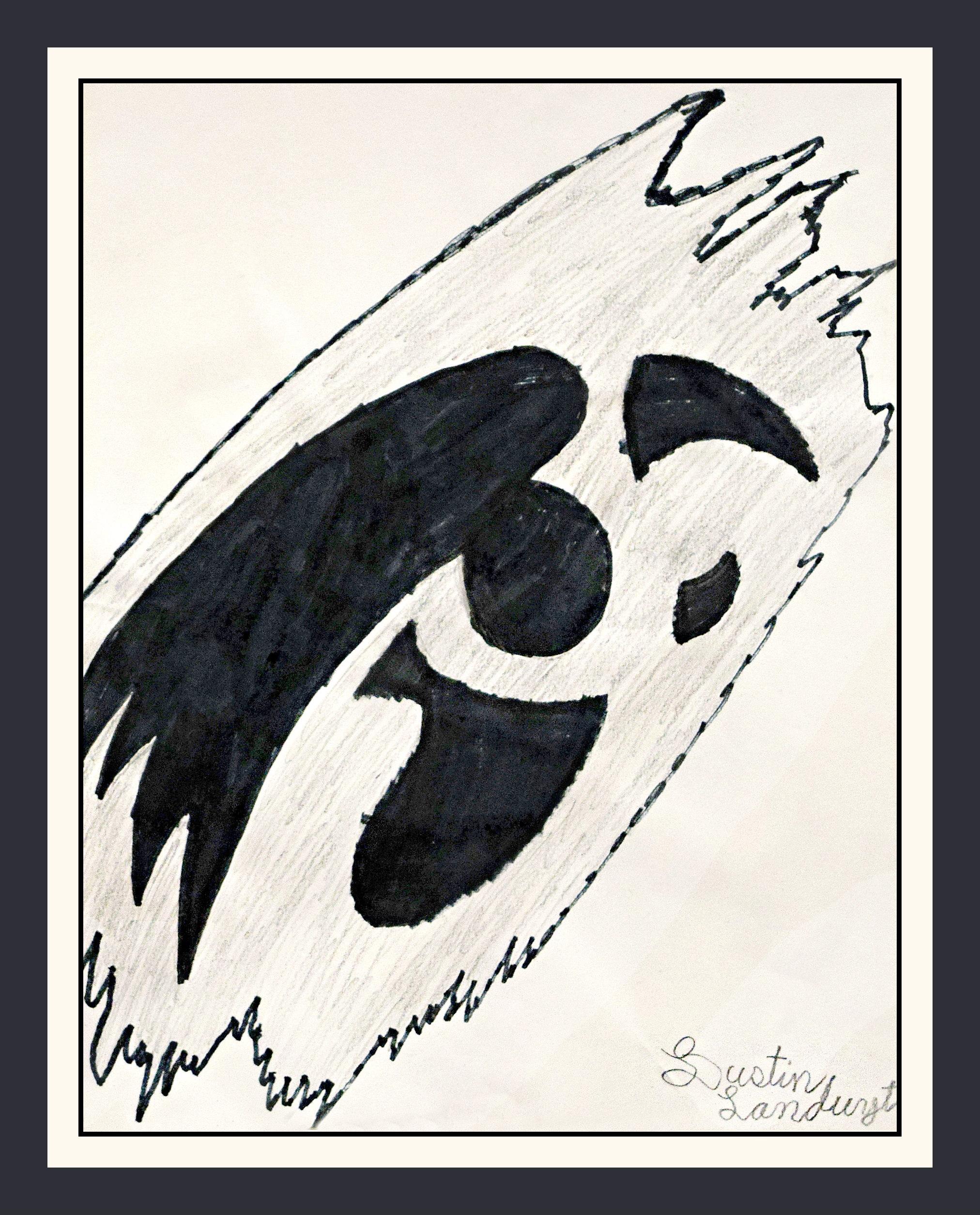 Dustin Landyut   Iowa Hawkeye 2016   Marker on paper, 8x11 $20 or print $15