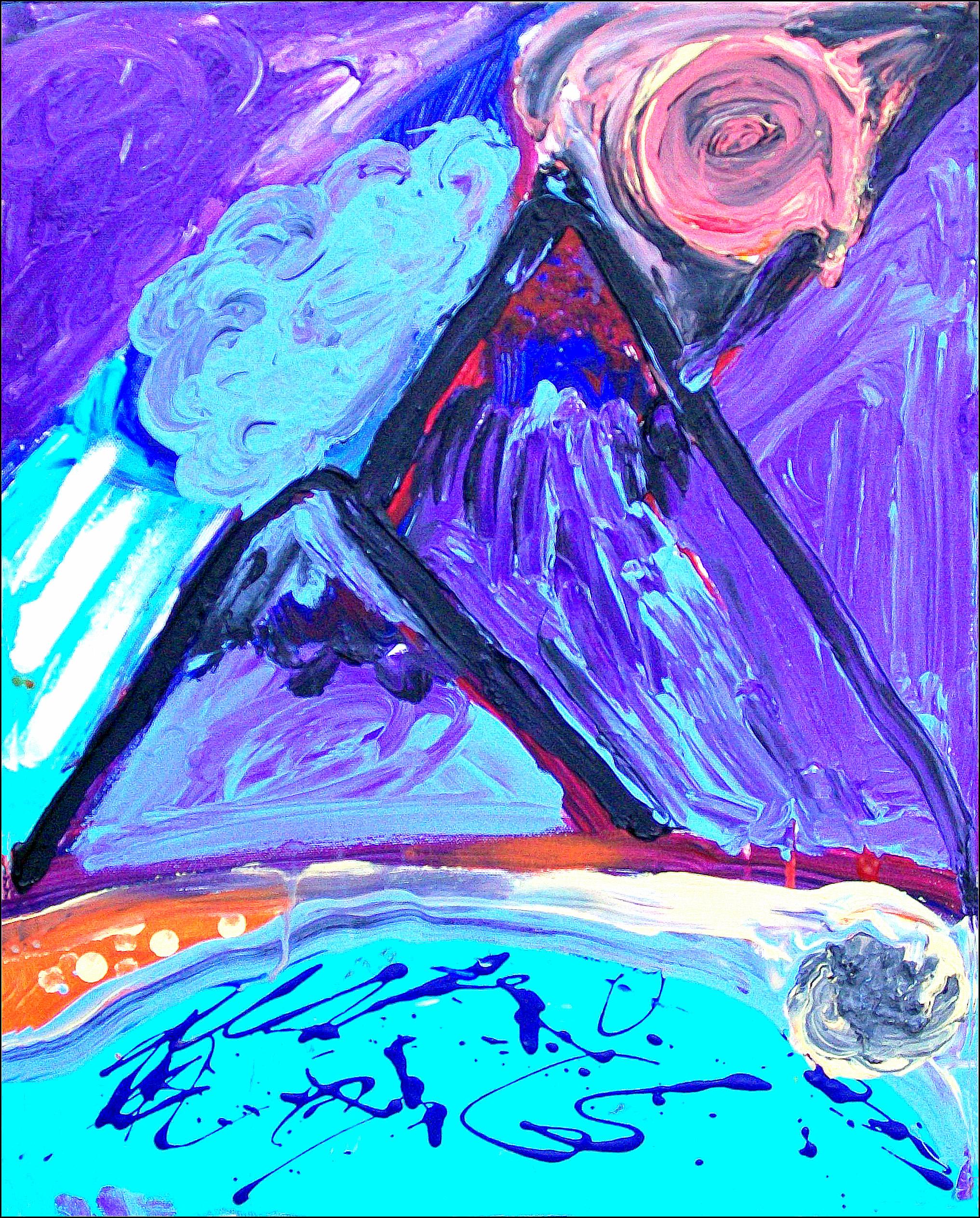 Purple Mountains Rachael Alhassen 2012 Acrylic on Canvas, Photo Print $35