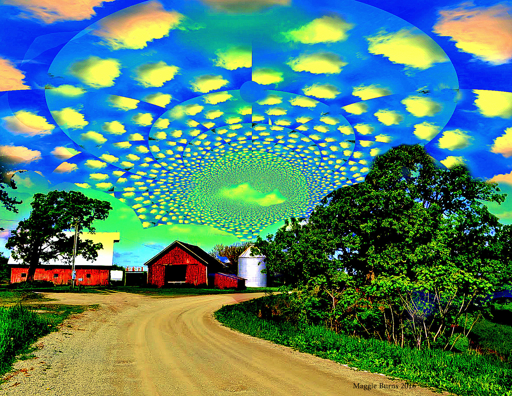 Barnrise (north of Iowa City) Maggie Burns 2014  11x17 $60, 13x19 $80, 8x11 $50
