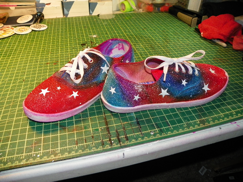Moon Shoes John Colwell Hand-painted sneakers $80