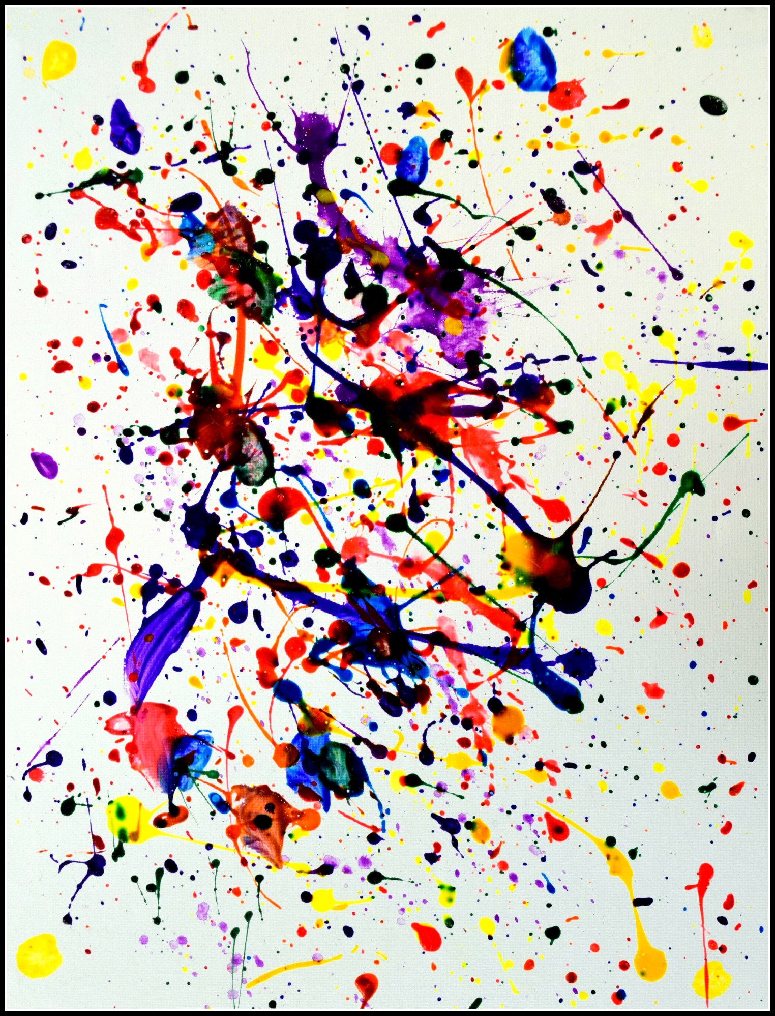 Splash Paint Jenna Helms Acrylic on paper 11x17 $15.00