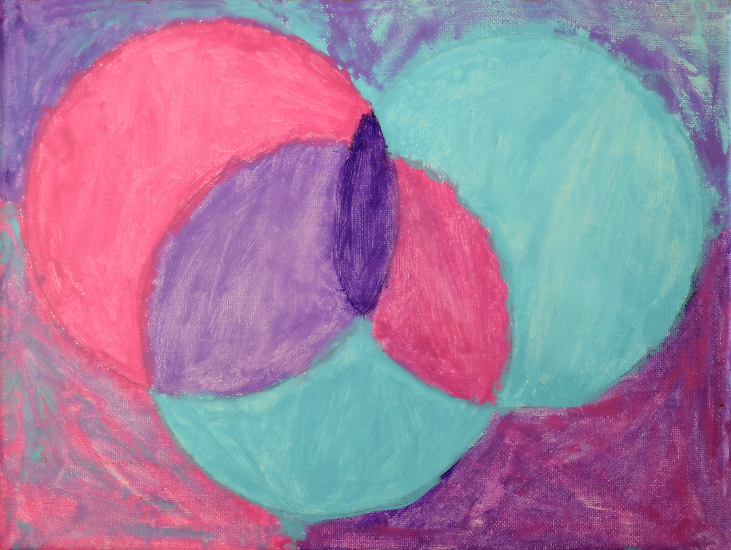 Combining Circles Susan Nevers Acrylic on canvas 9x12 or 11x14 $35.00