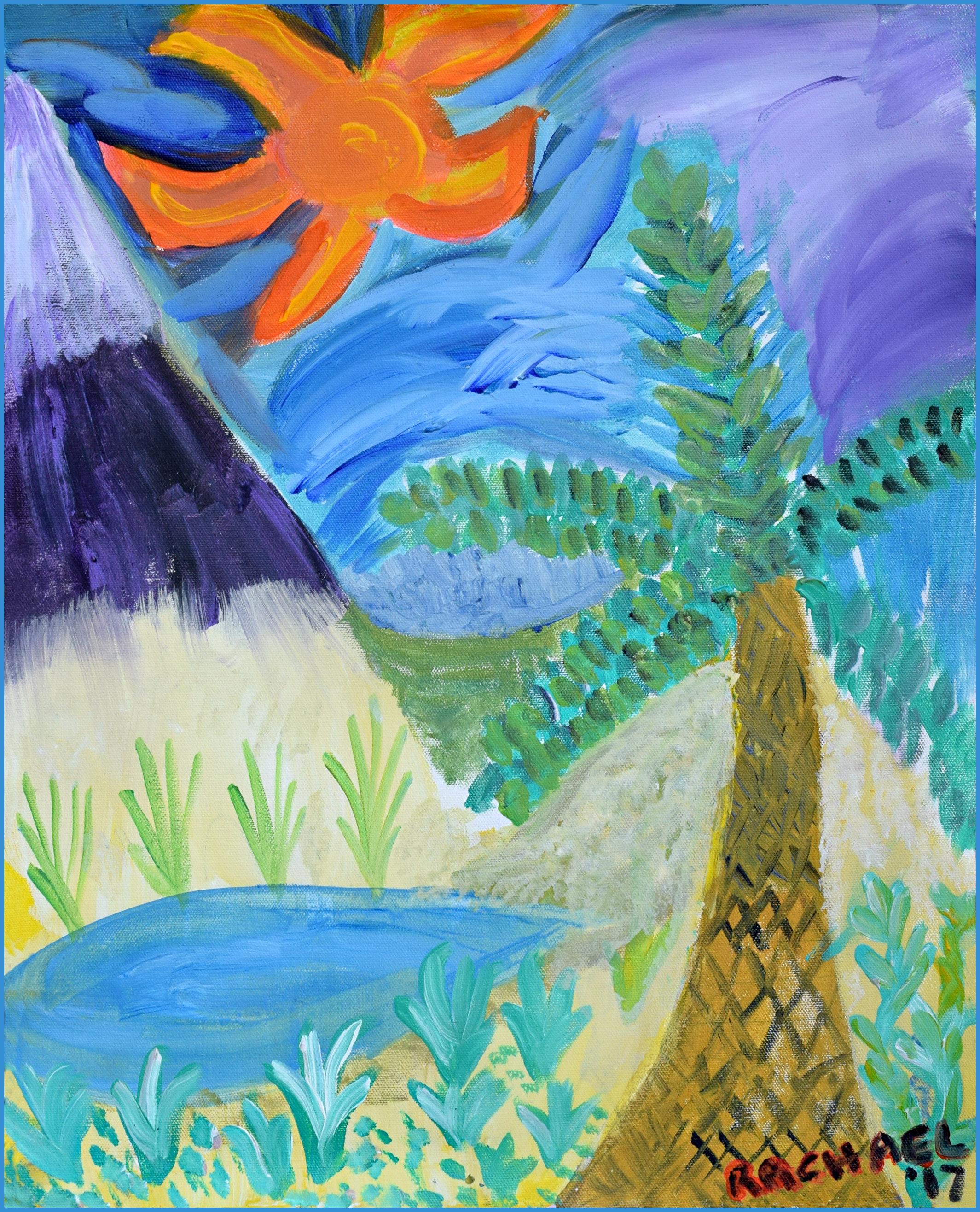 Tropical Island Rachael Alhassan 2017 Acrylic on canvas NFS, print $45