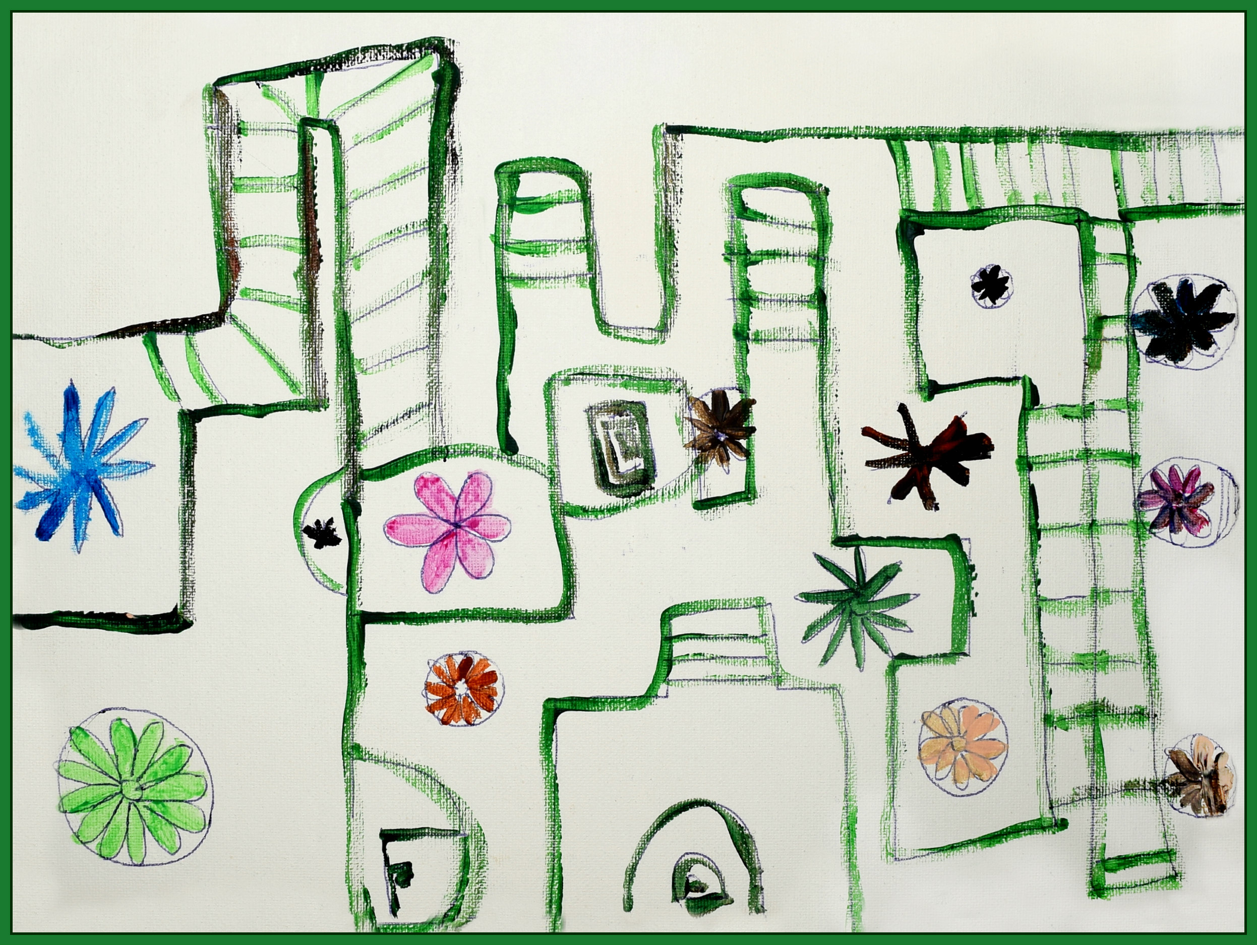 Garden Design Morgan West Markers on paper 8.5 x 11 $30