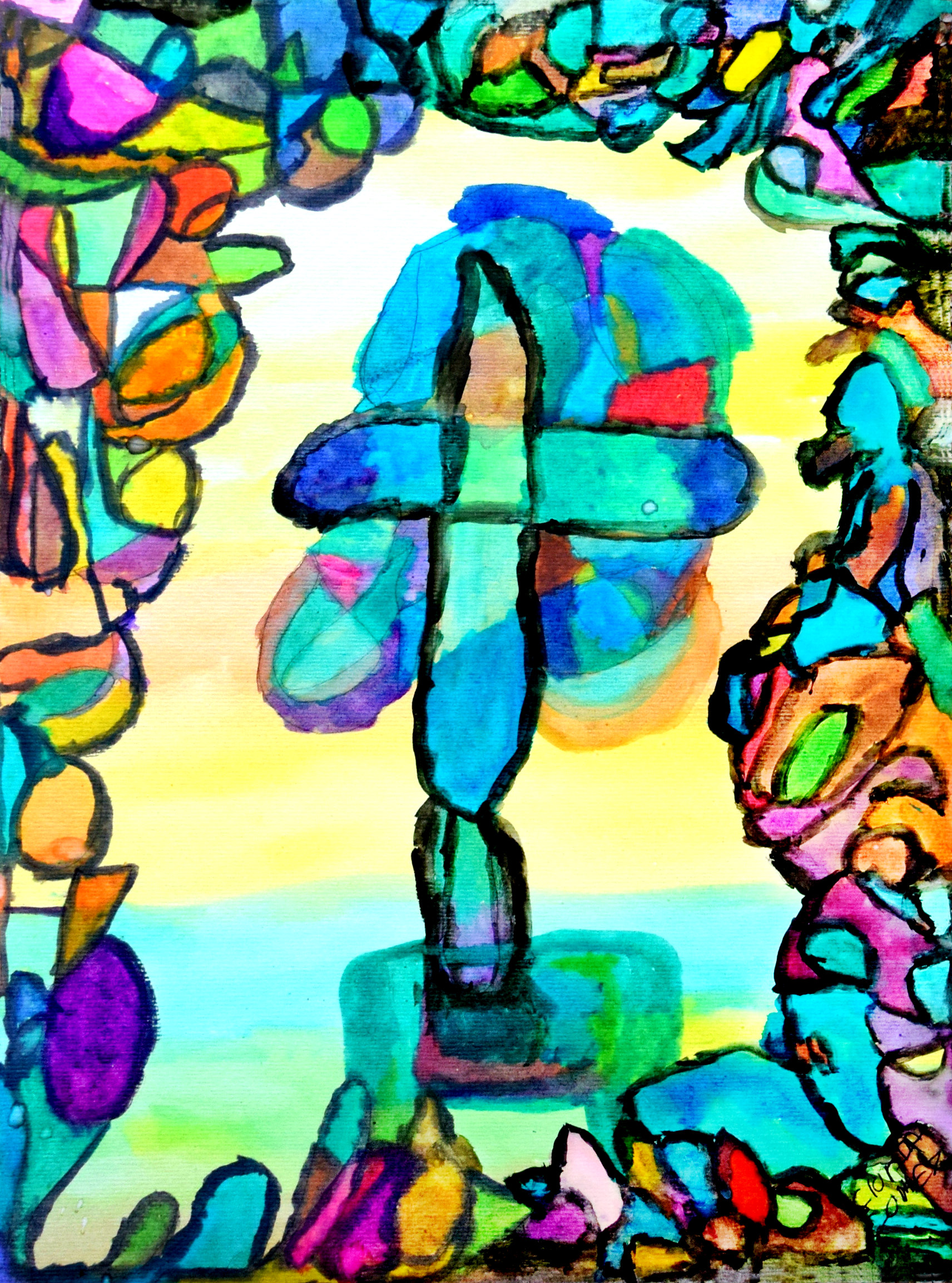 """Easter Tribute 9 x 12"""" Watercolor on Paper $65"""