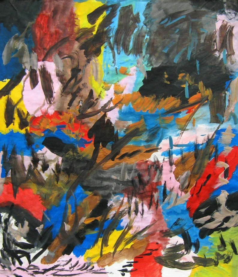 """Abstract Seven 16 x 22"""" Acrylic on Paper $150"""