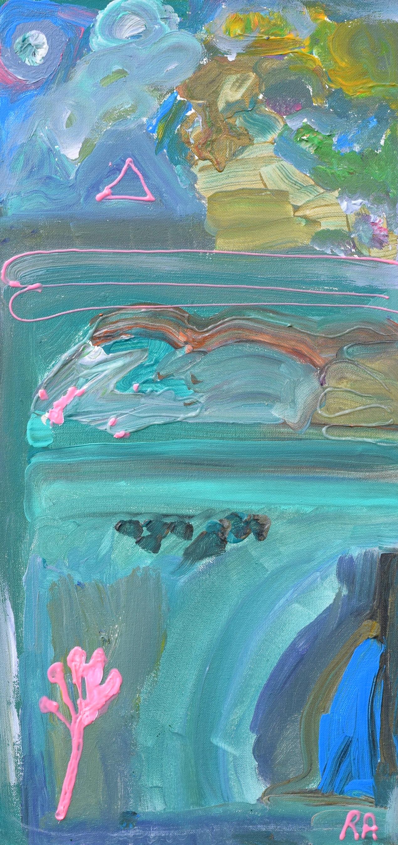 Pastel Landscape Rachael Alhassan 2018 Acrylic on canvas, print $45