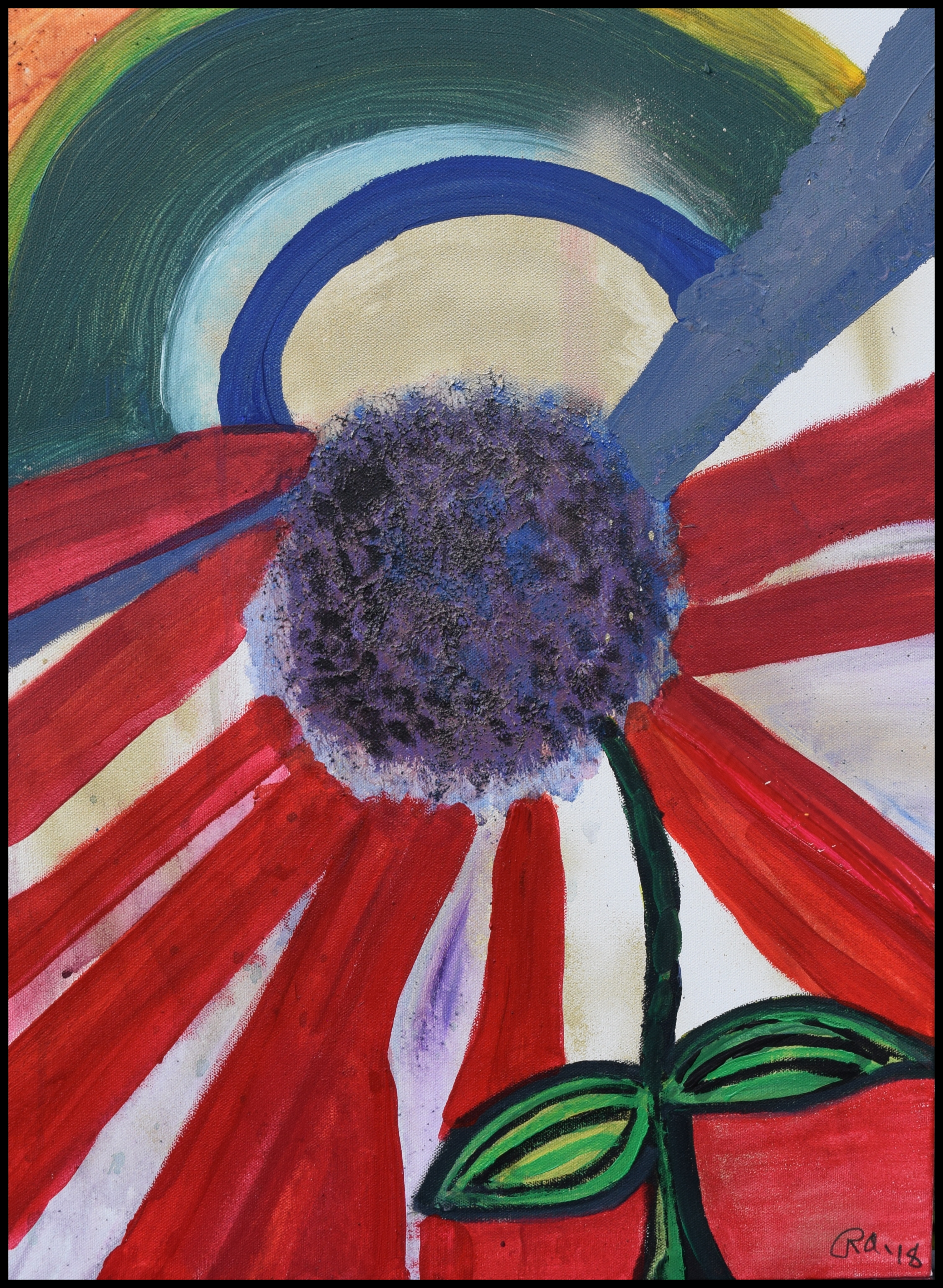 Flower Power Rachael Alhassan 2018 Acrylic on canvas. print $40