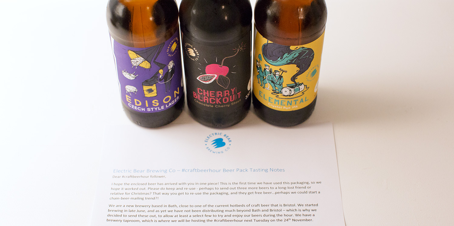 The beers: Edison, Elemental and Cherry Blackout