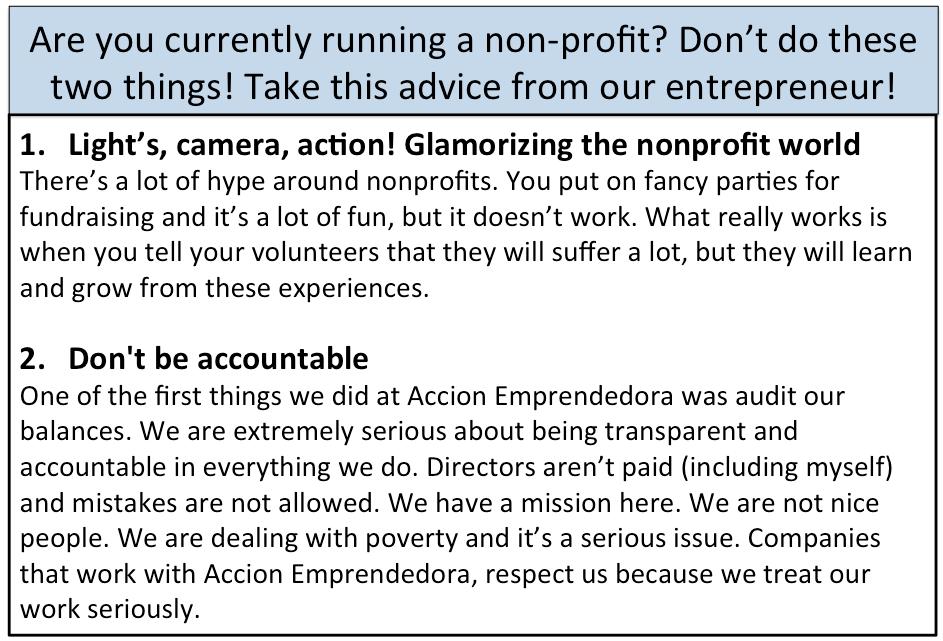 non profit entrepreneur
