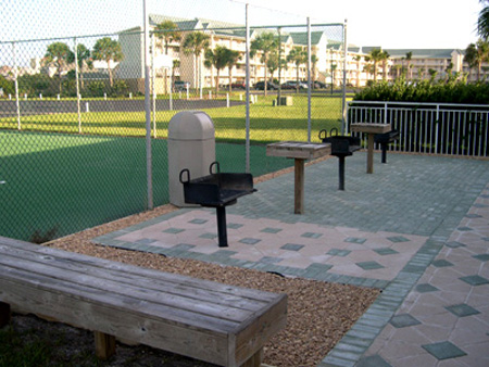 BBQ grills available in the picnic areas around both pools