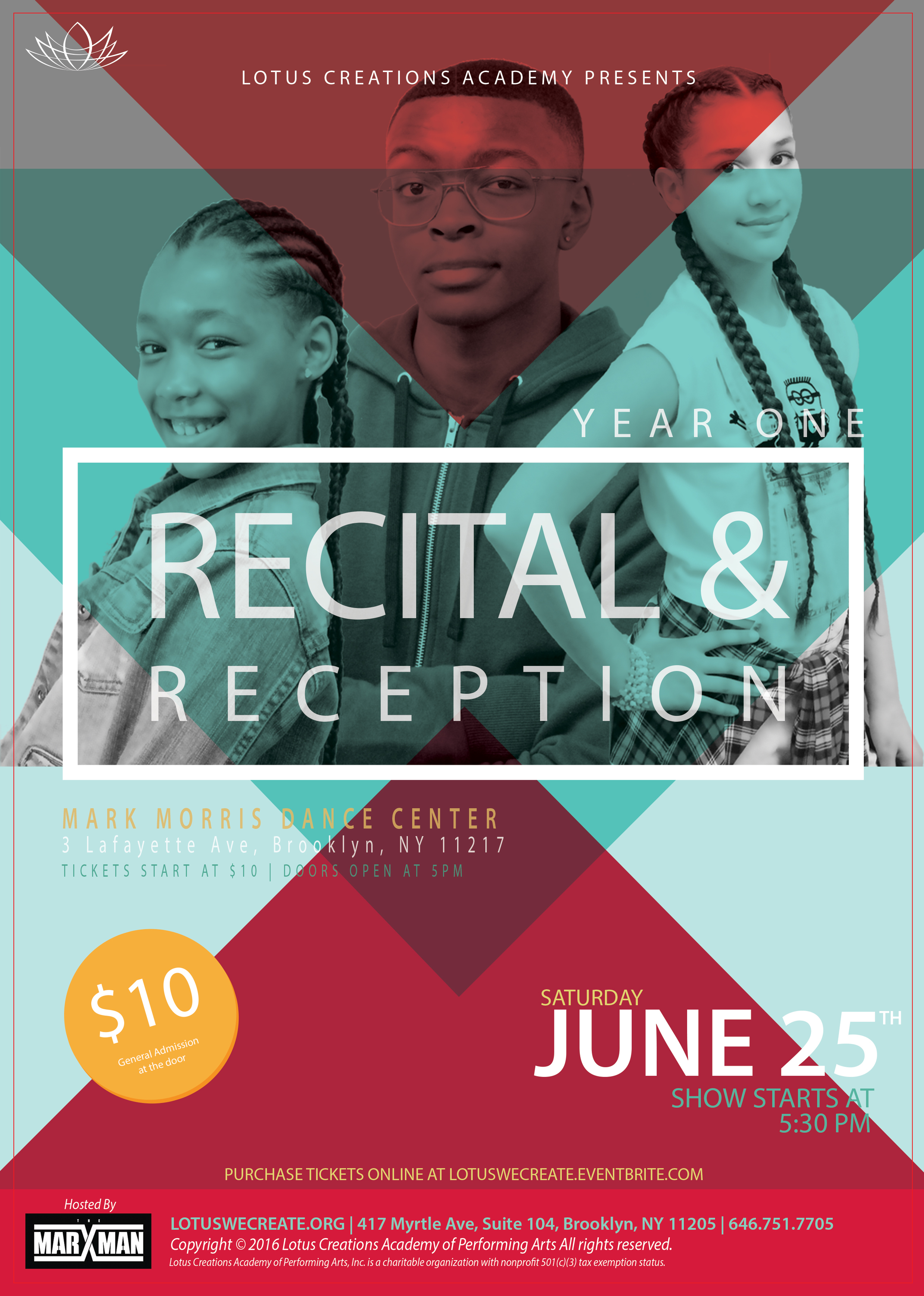 Recital & Reception 2016 Flyer